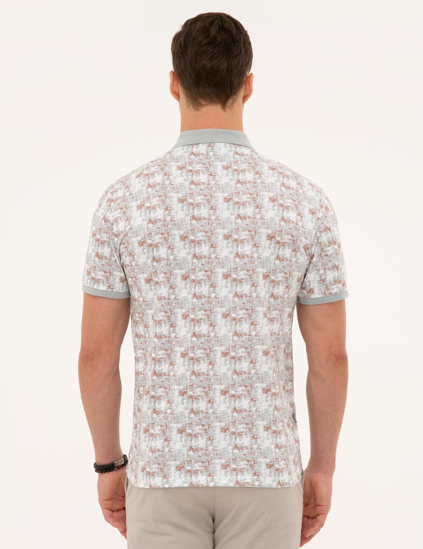 Gri Slim Fit Polo Yaka T-Shirt
