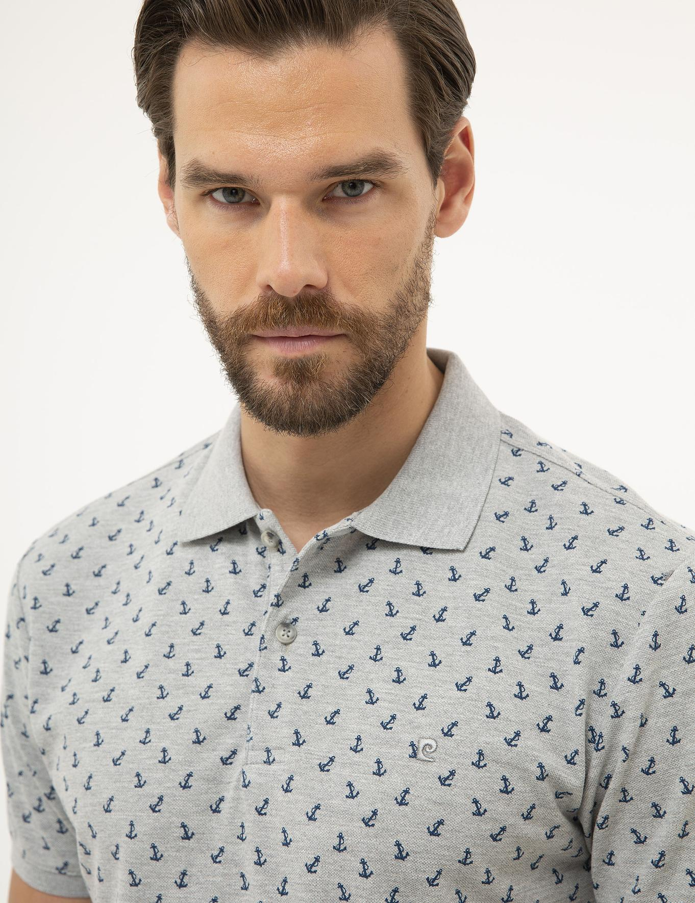 Gri Melanj Slim Fit Polo Yaka T-Shirt