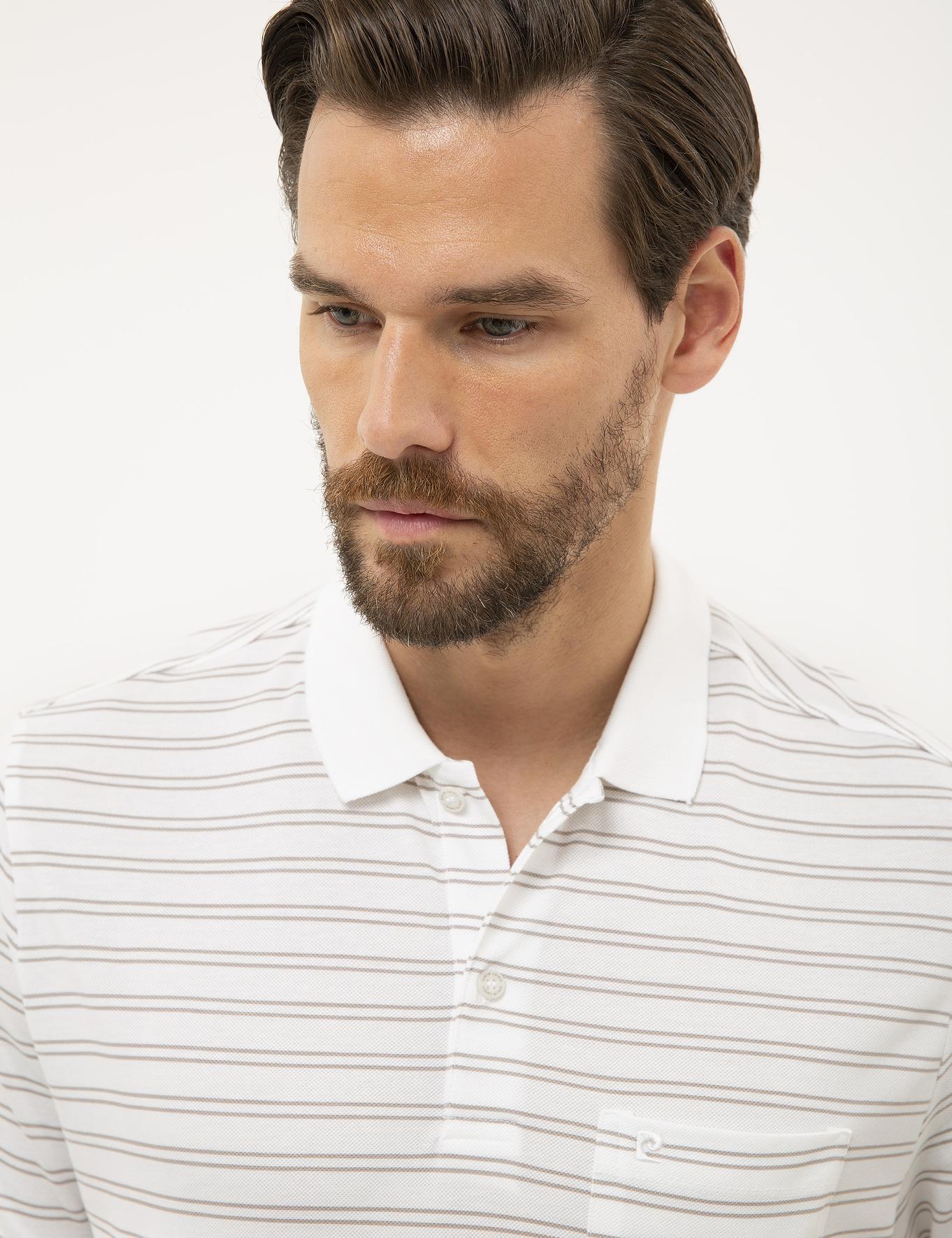 Beyaz Regular Fit Polo Yaka T-Shirt