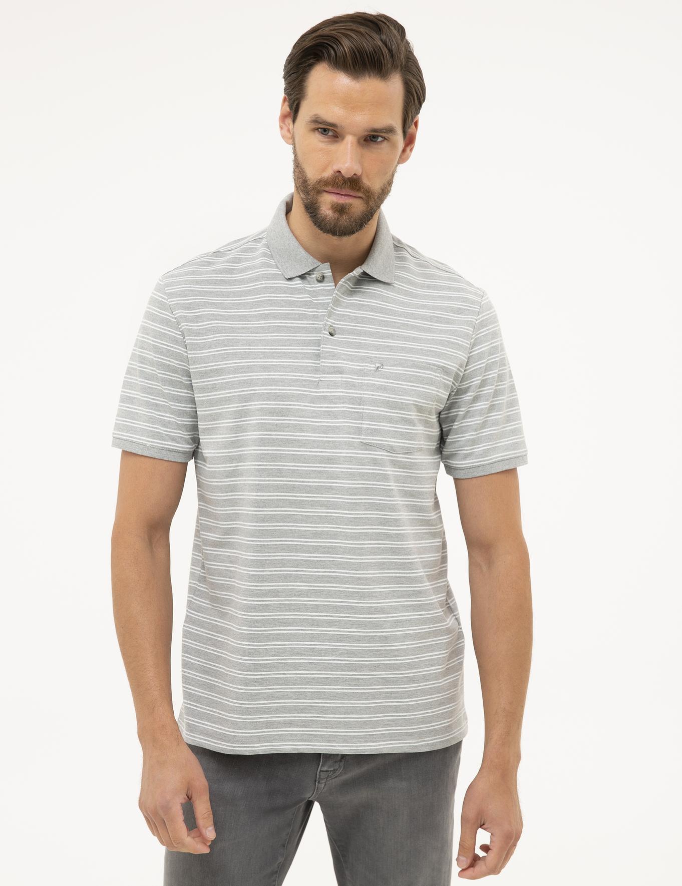 Gri Melanj Regular Fit Polo Yaka T-Shirt