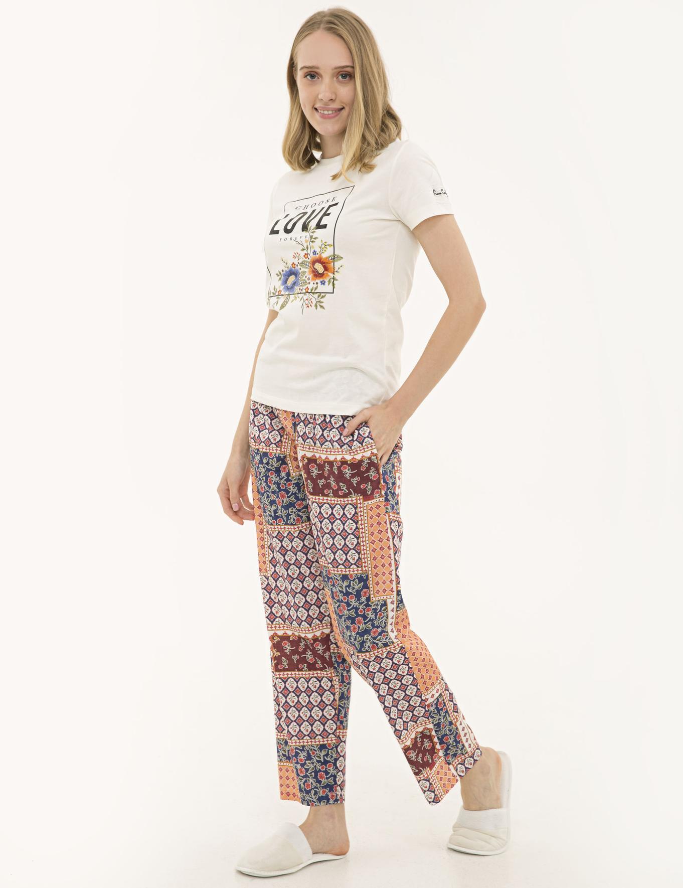 Ekru Pijama Takım