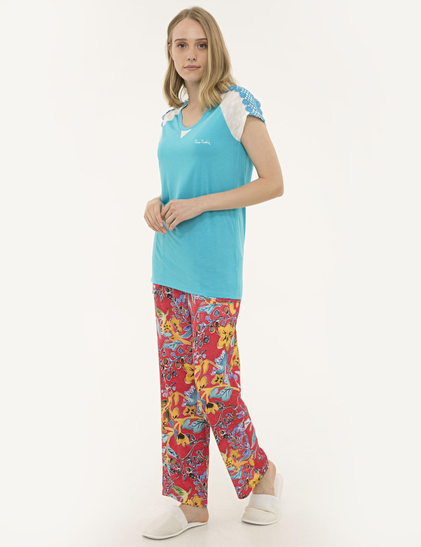 Turkuaz Pijama Takım