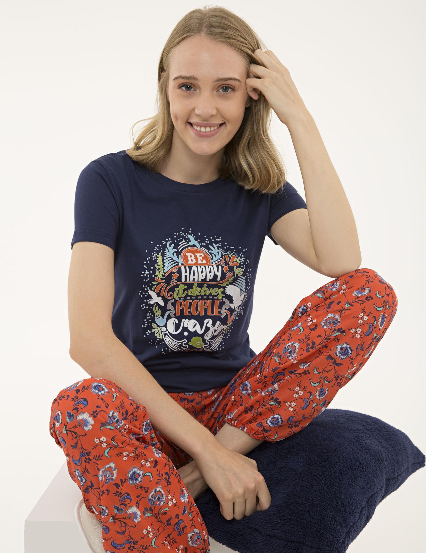 Lacivert Pijama Takım