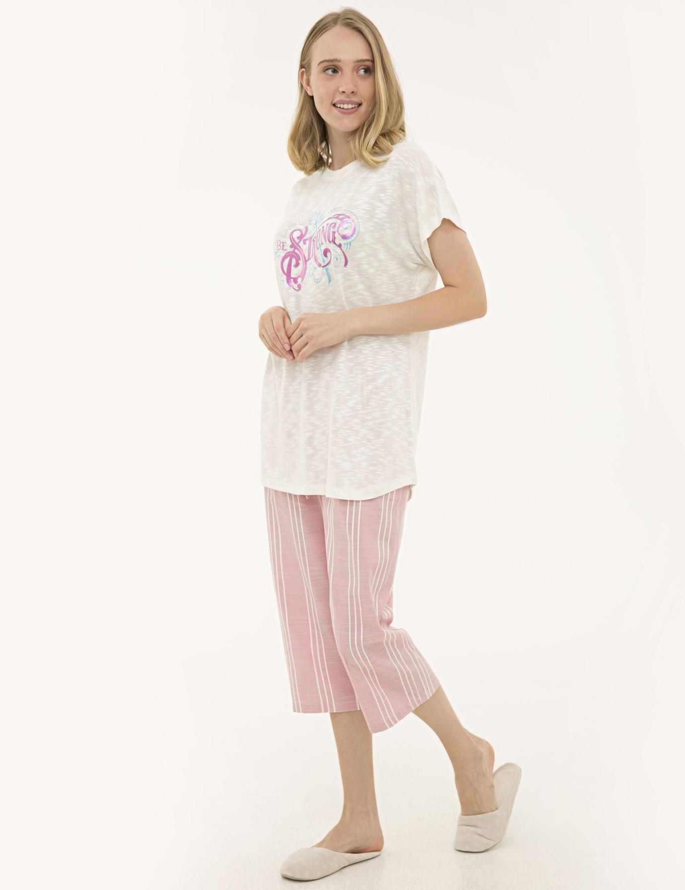 Pembe Kapri Pijama Takım