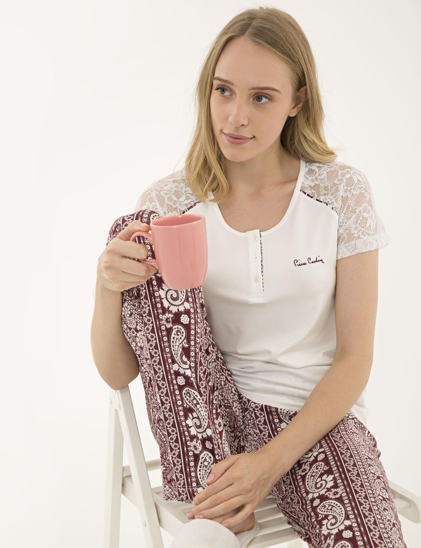 Bordo Pijama Takım