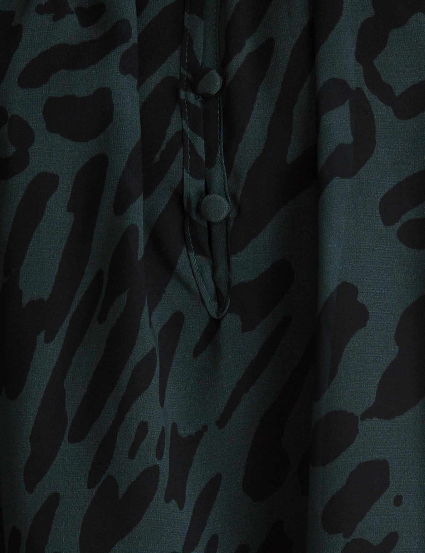 Zümrüt Yeşili Oversize Bluz