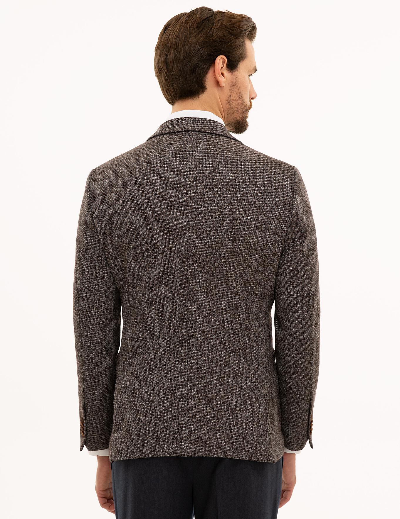 Kahverengi Ekstra Slim Ceket