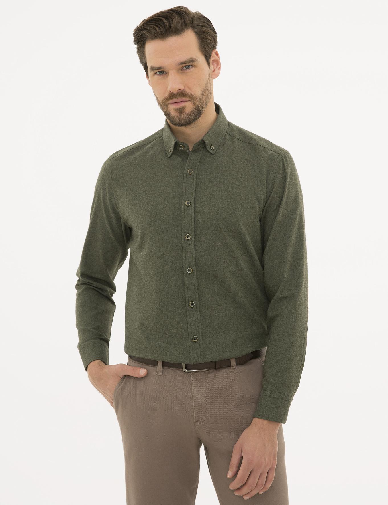 Haki Regular Fit Gömlek
