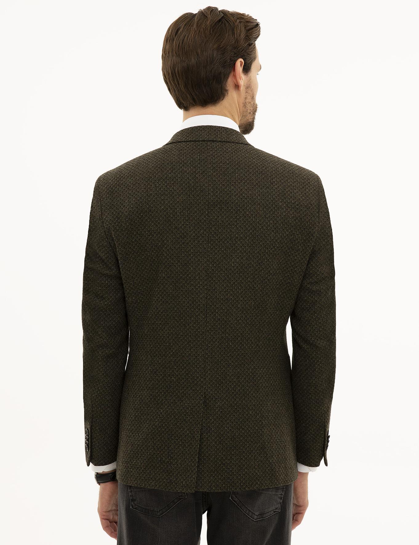 Haki Slim Fit Ceket