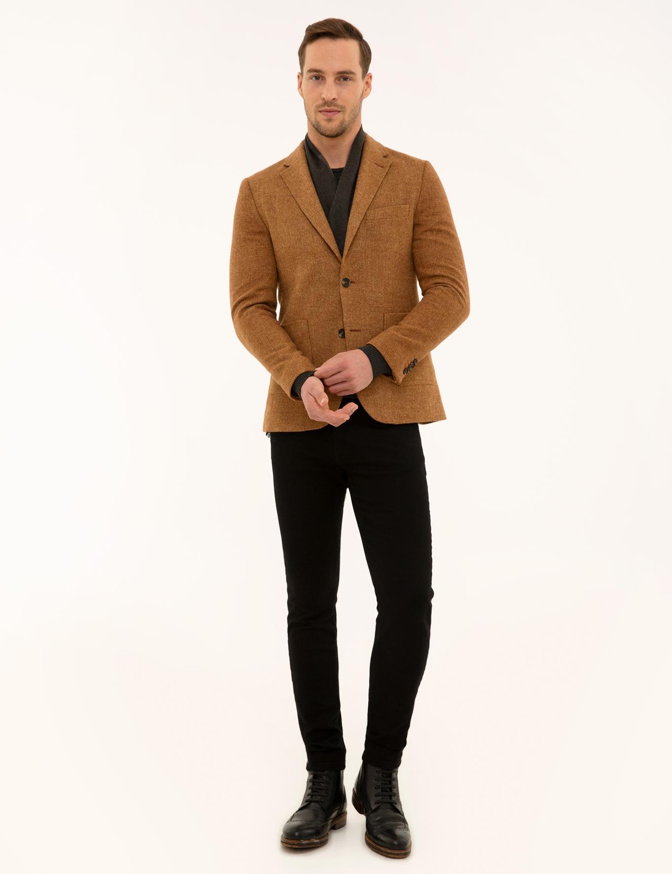 Turuncu Ekstra Slim Fit Ceket
