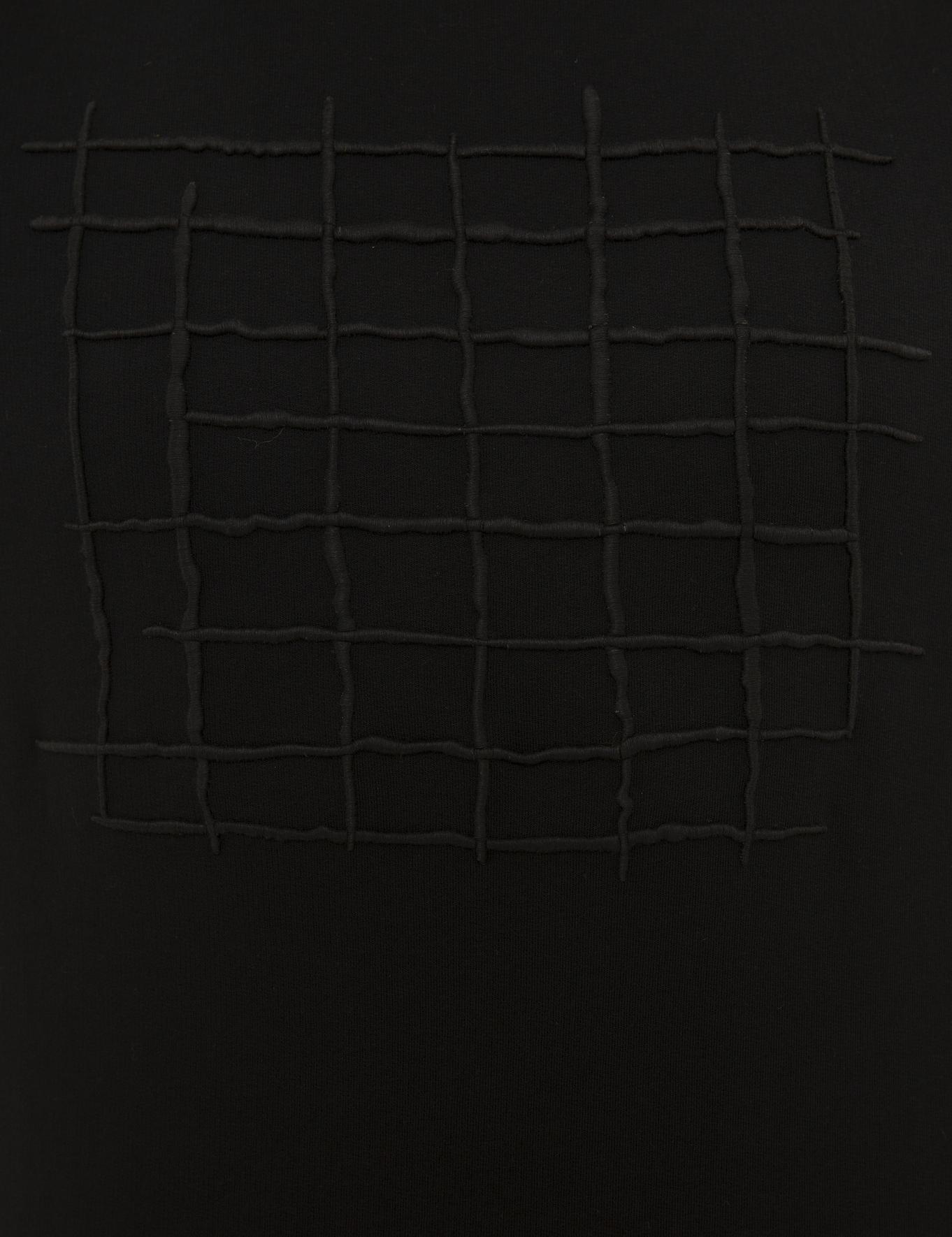 Siyah Standart Fit Bisiklet Yaka Sweatshirt