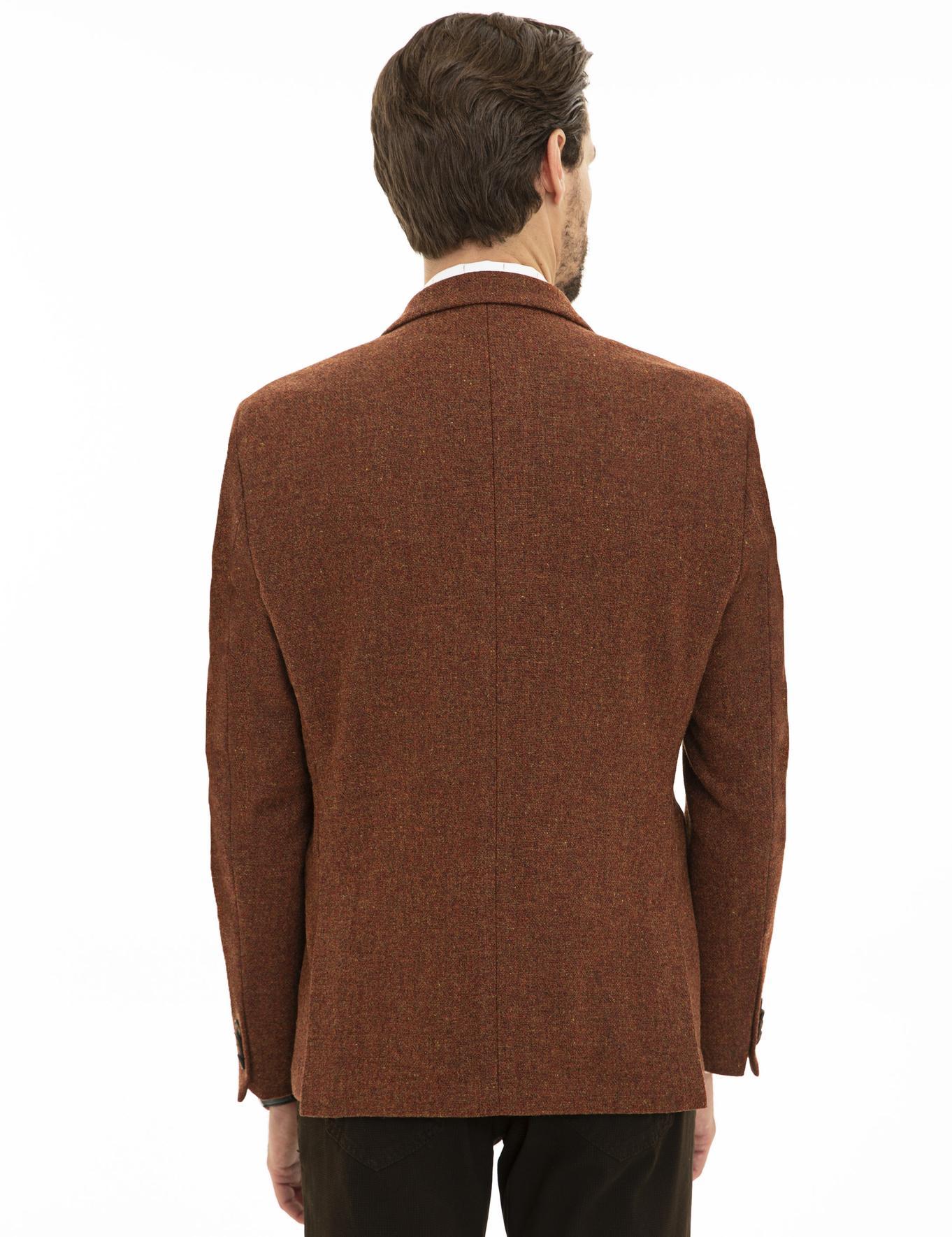 Kiremit Slim Fit Ceket