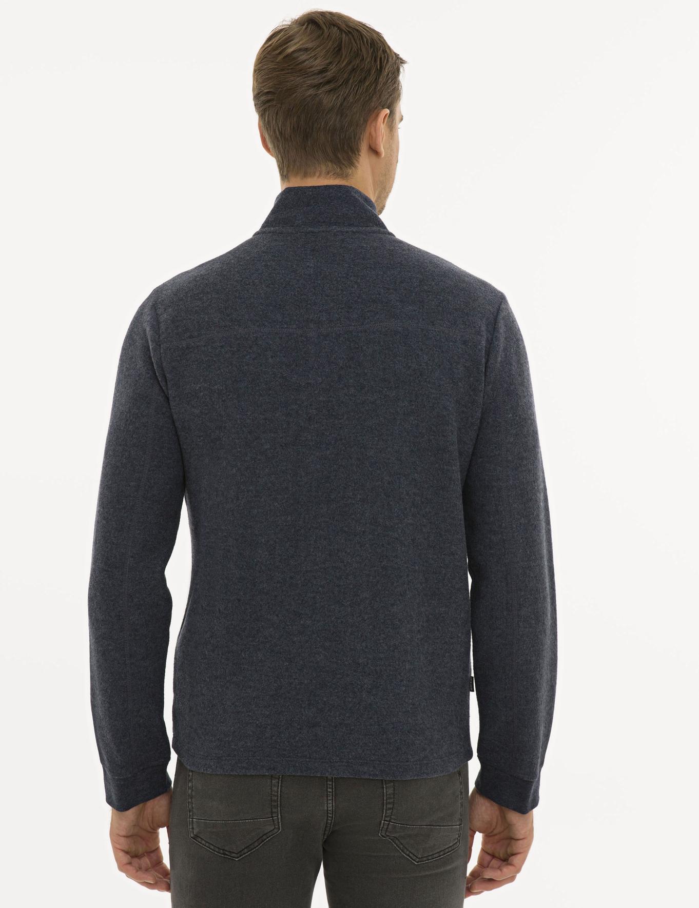 Lacivert Melanj Regular Fit Sweatshirt