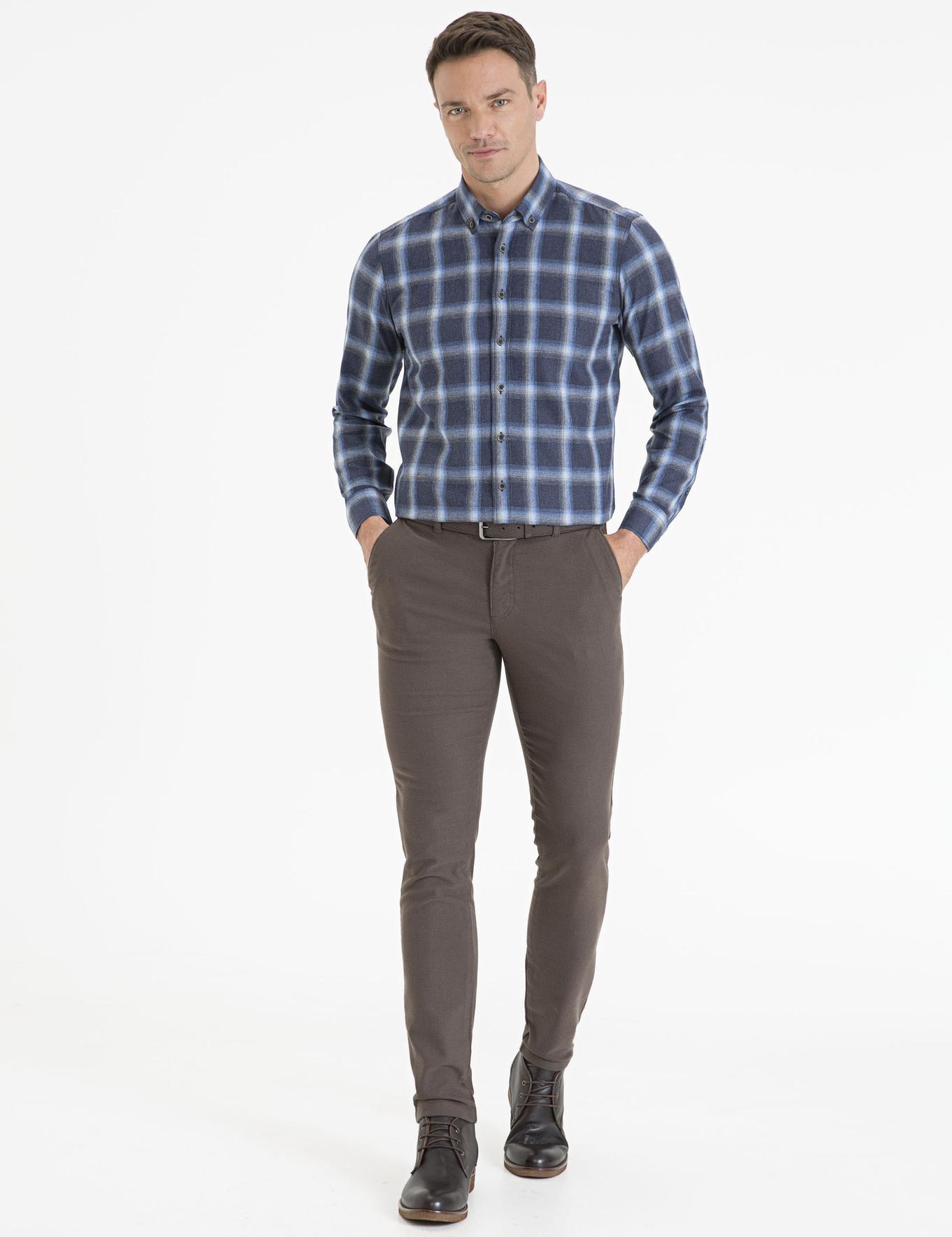 Haki Slim Fit Chino Pantolon