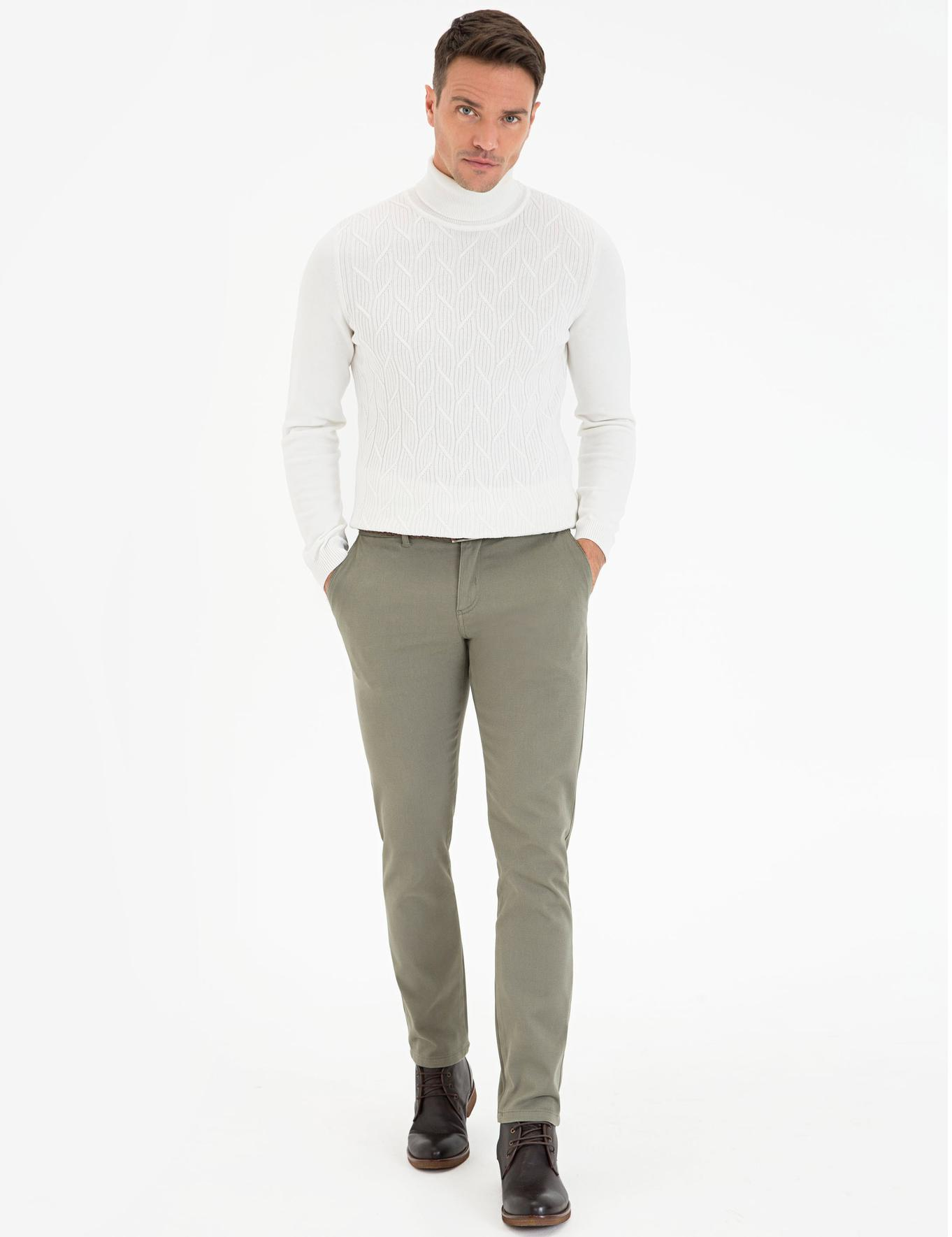 Yeşil Slim Fit Chino Pantolon