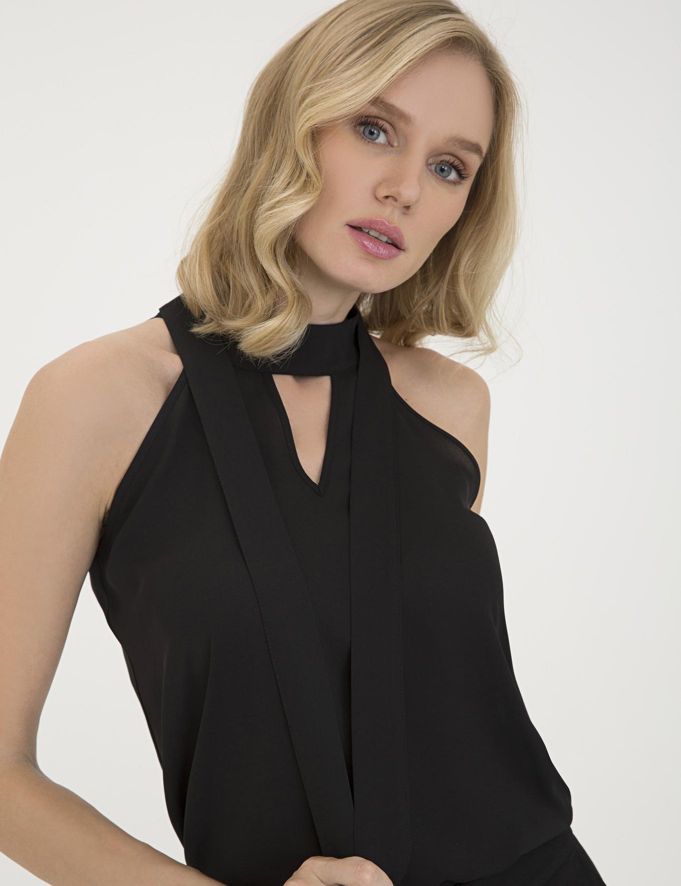Siyah Regular Fit Bluz