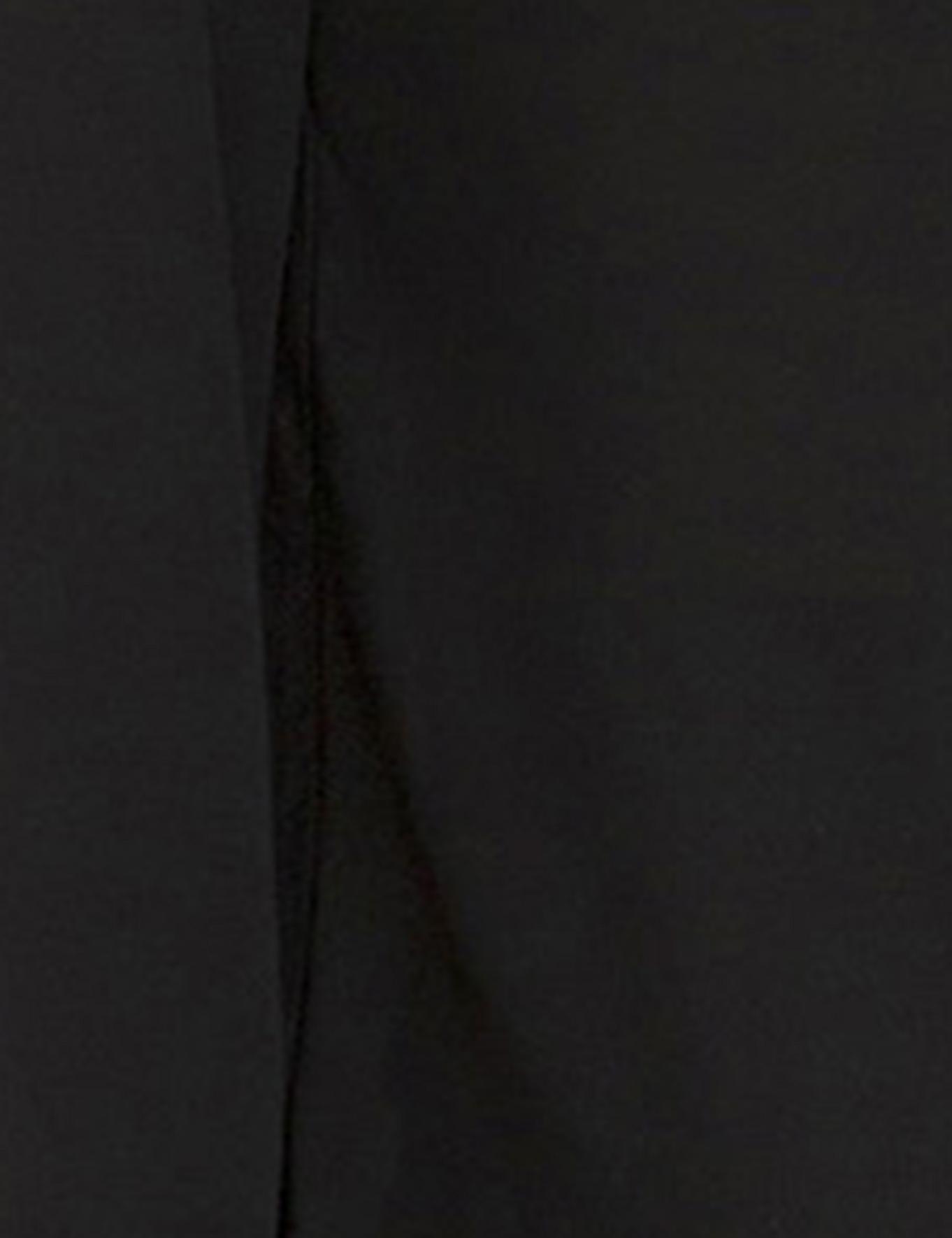 Siyah Comfort Fit Bisiklet Yaka Bluz