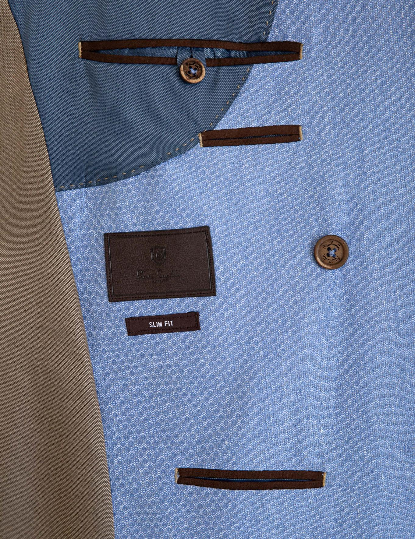 Mavi Kruvaze Slim Fit Ceket
