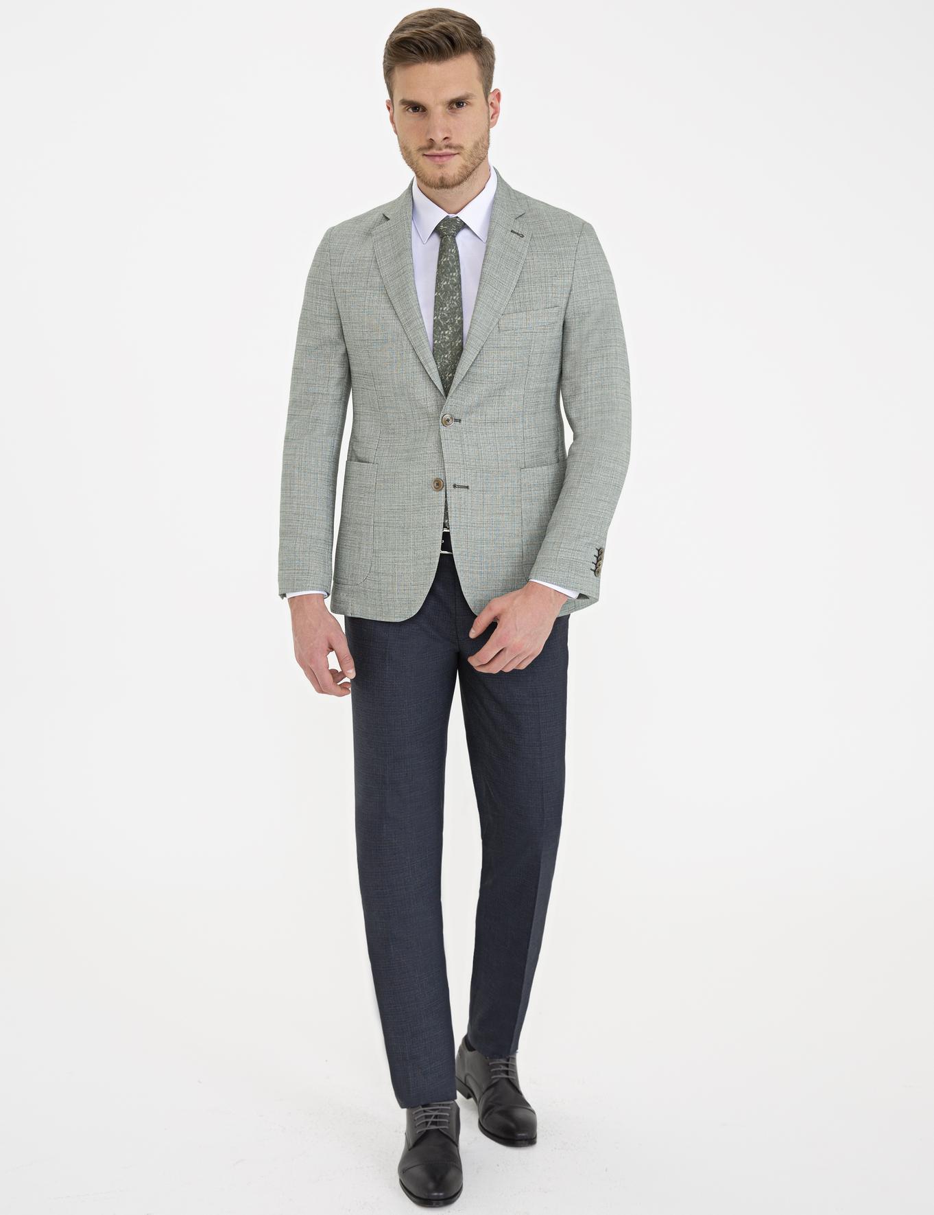 Açık Haki Ekstra Slim Fit Ceket