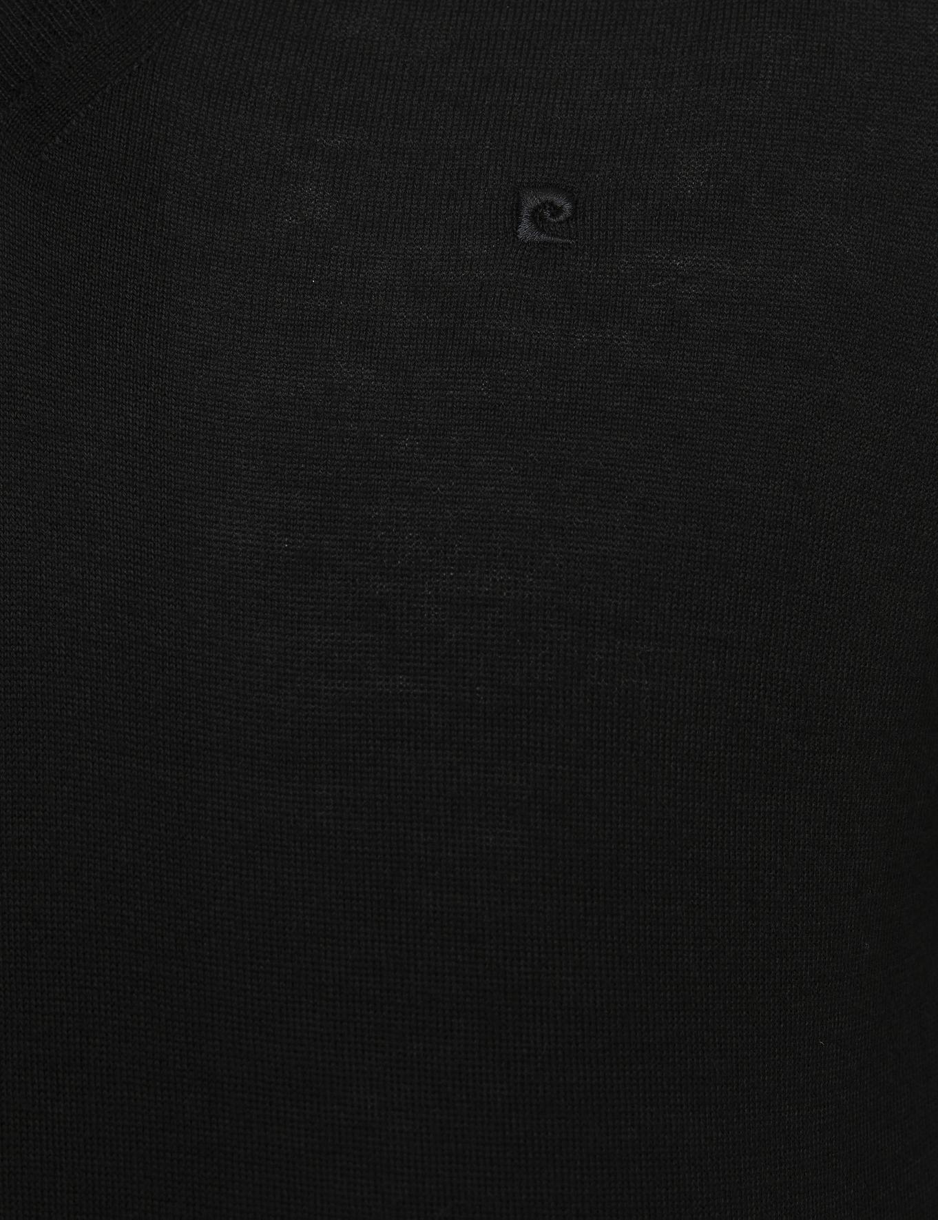 Siyah Slim Fit V Yaka Basic Triko Kazak