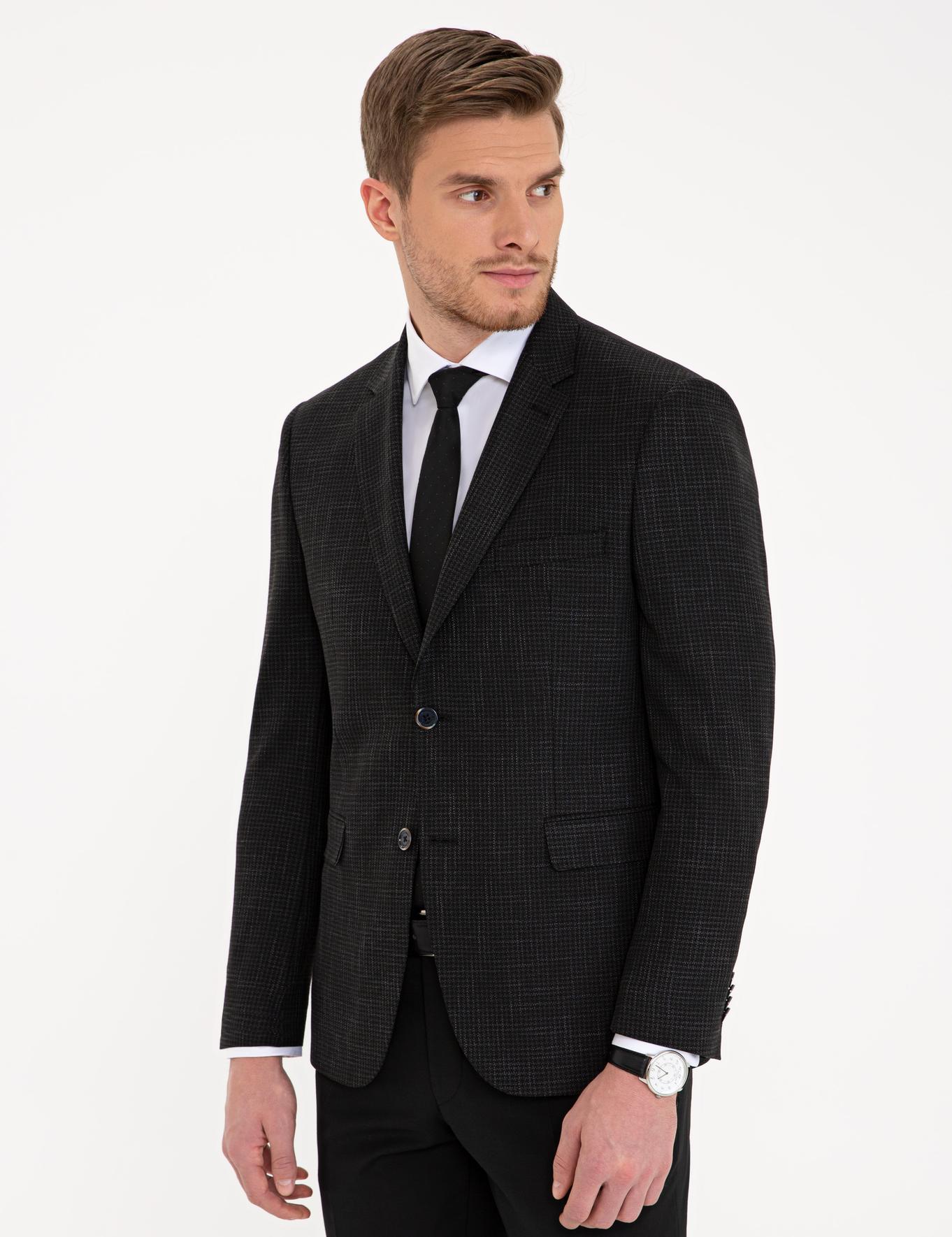 Siyah Slim Fit Ceket