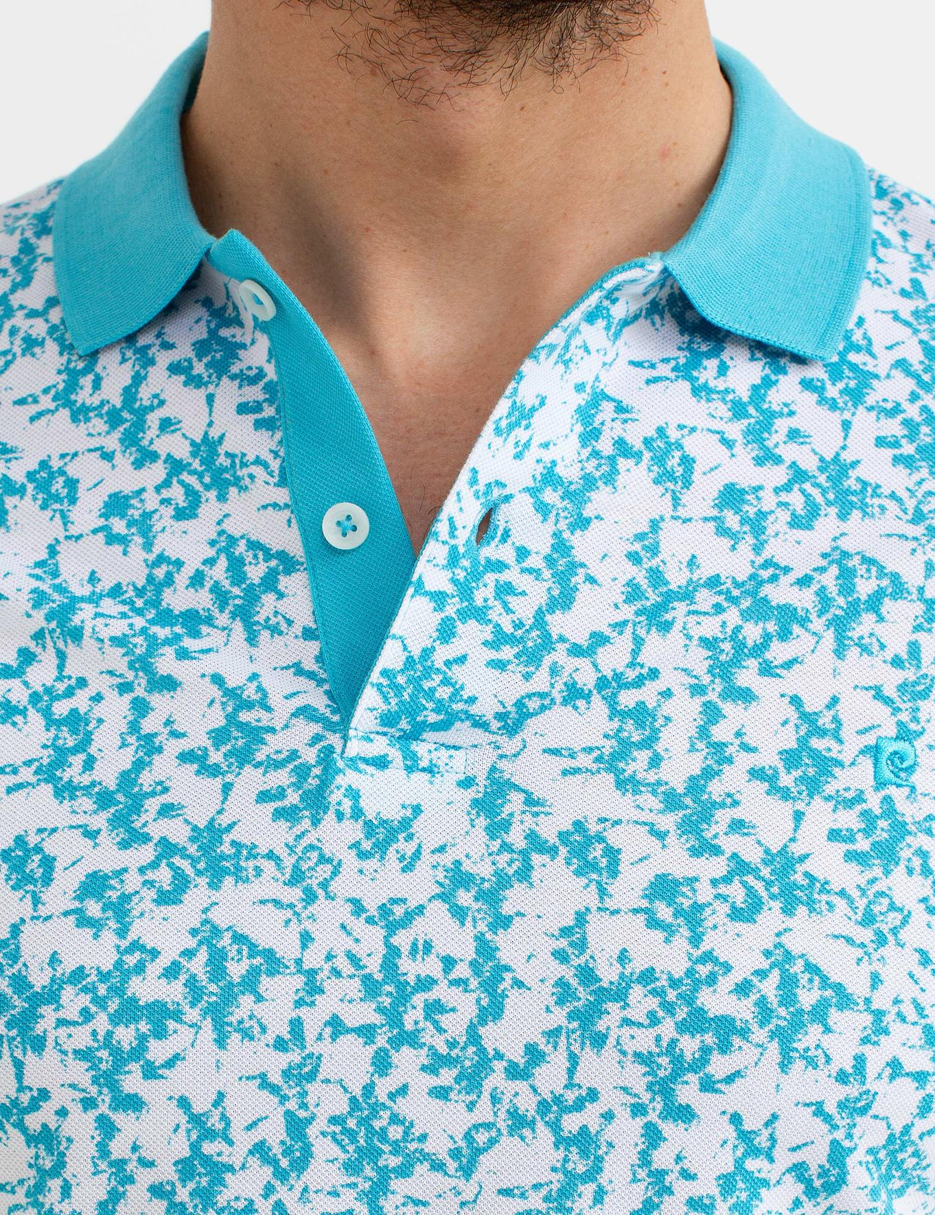 Turkuaz Mavi Slim Fit T-Shirt