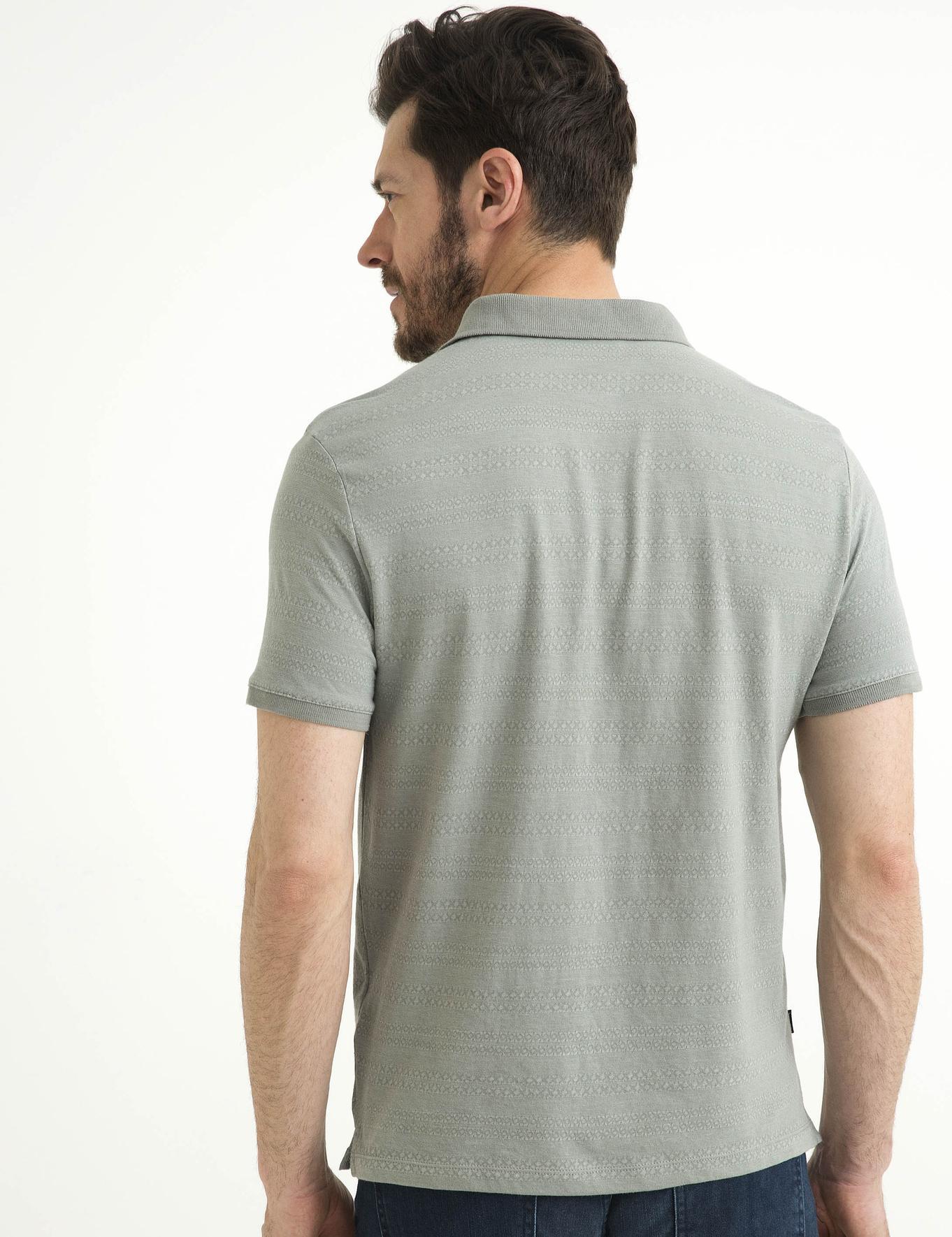 Açık Gri Slim Fit Polo Yaka T-Shirt