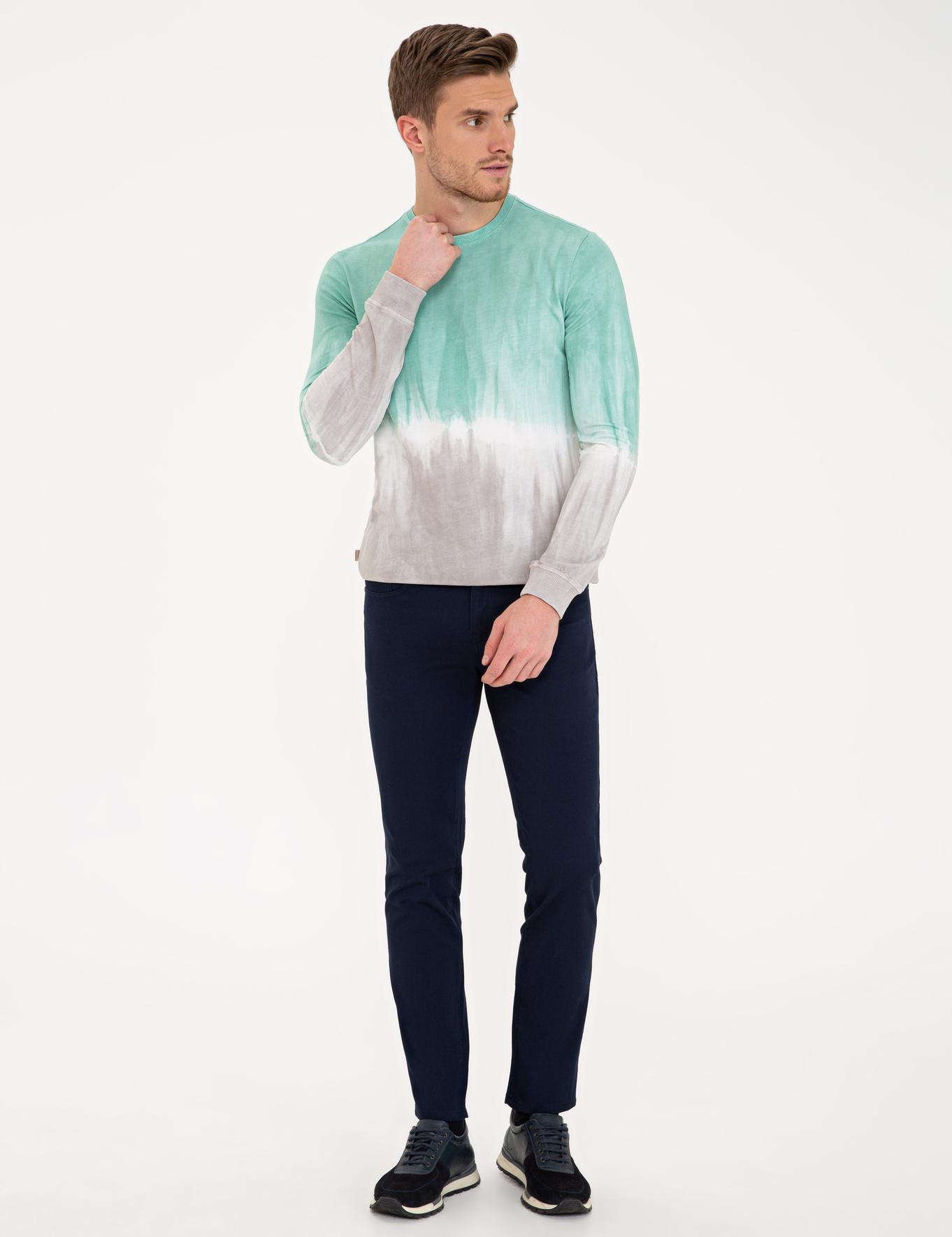 Yeşil Slim Fit Sweatshirt