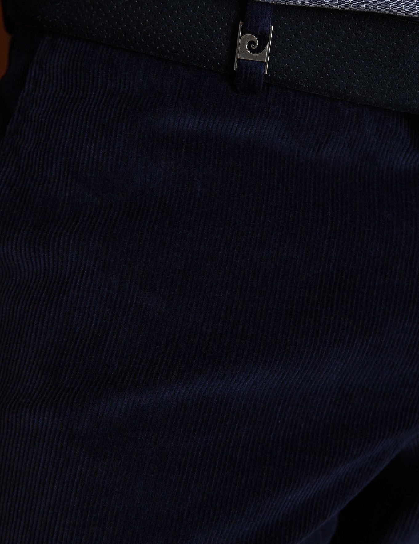 Lacivert Slim Fit Kadife Pantolon