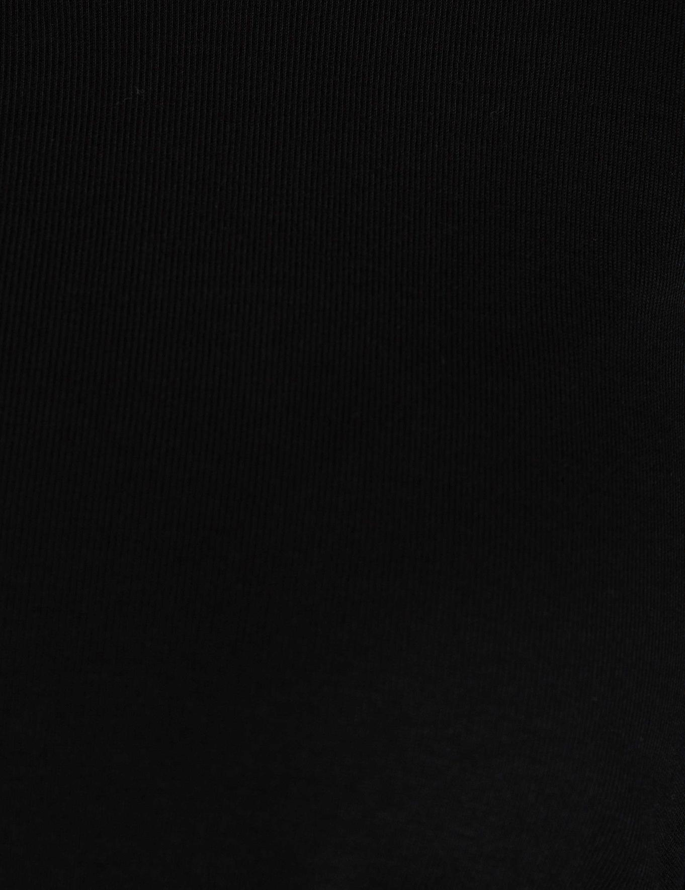 Siyah Slim Fit Bisiklet Yaka Bluz