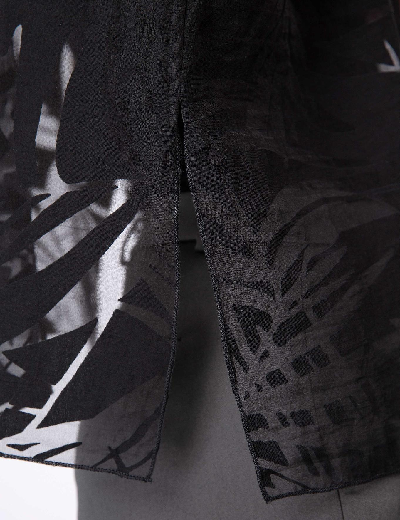 Siyah Standart Fit Bisiklet Yaka Bluz
