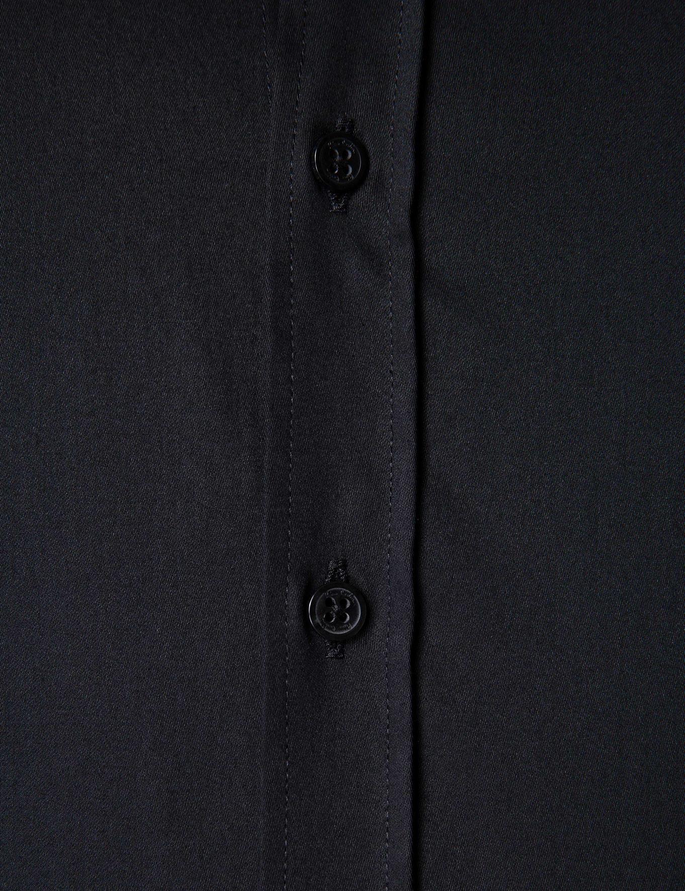 Siyah Slim Fit Basic Gömlek