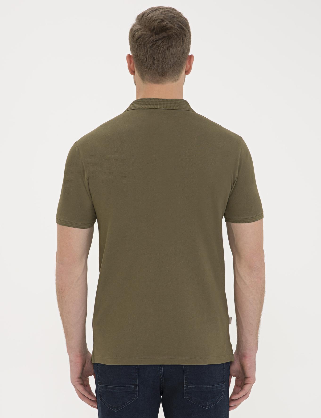 Açık Haki Slim Fit Basic Polo Yaka T-Shirt