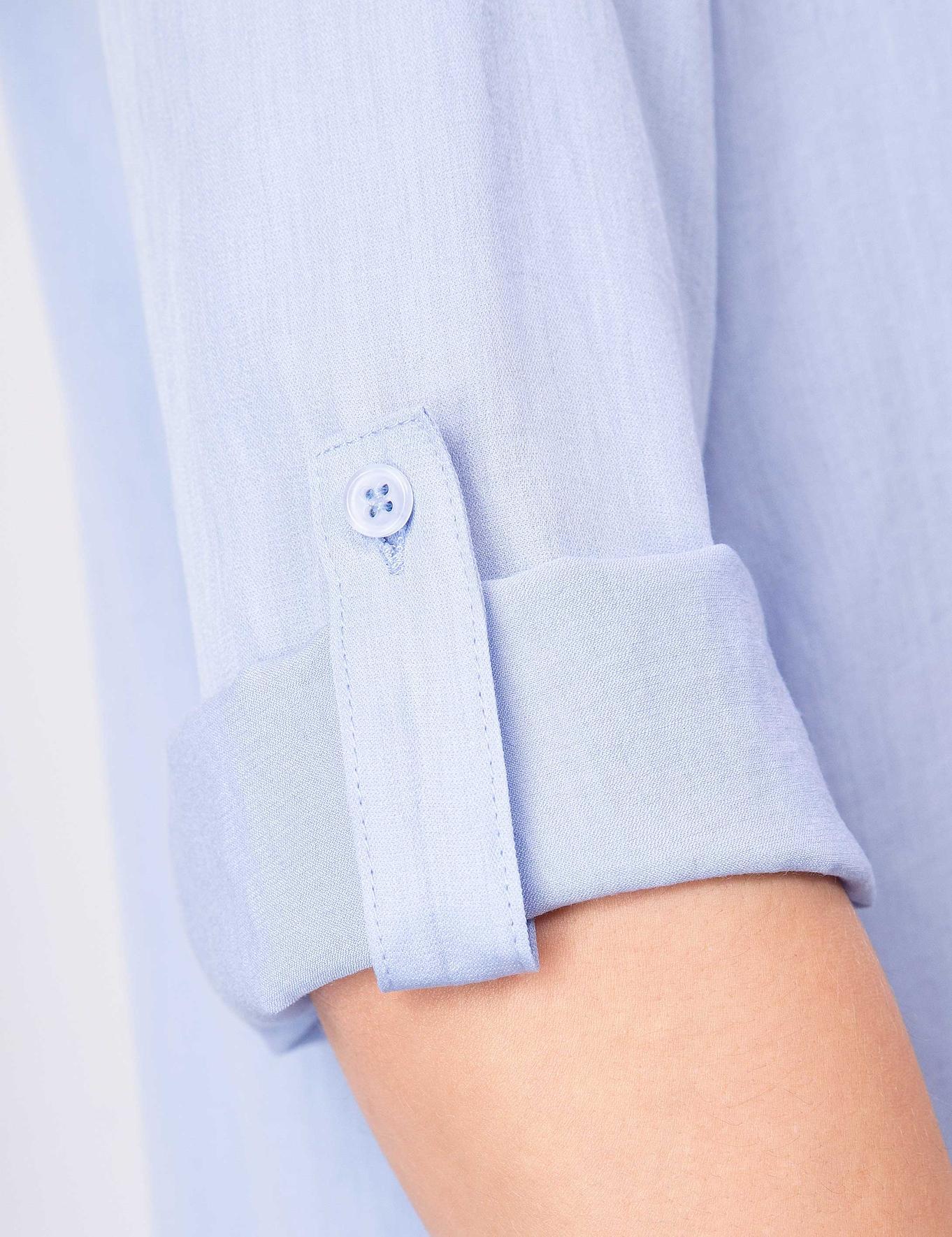 Açık Mavi Dokuma Gömlek