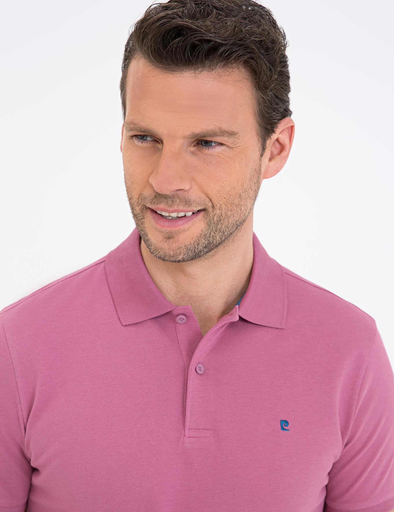 Gül Kurusu Slim Fit Basic Polo Yaka T-Shirt