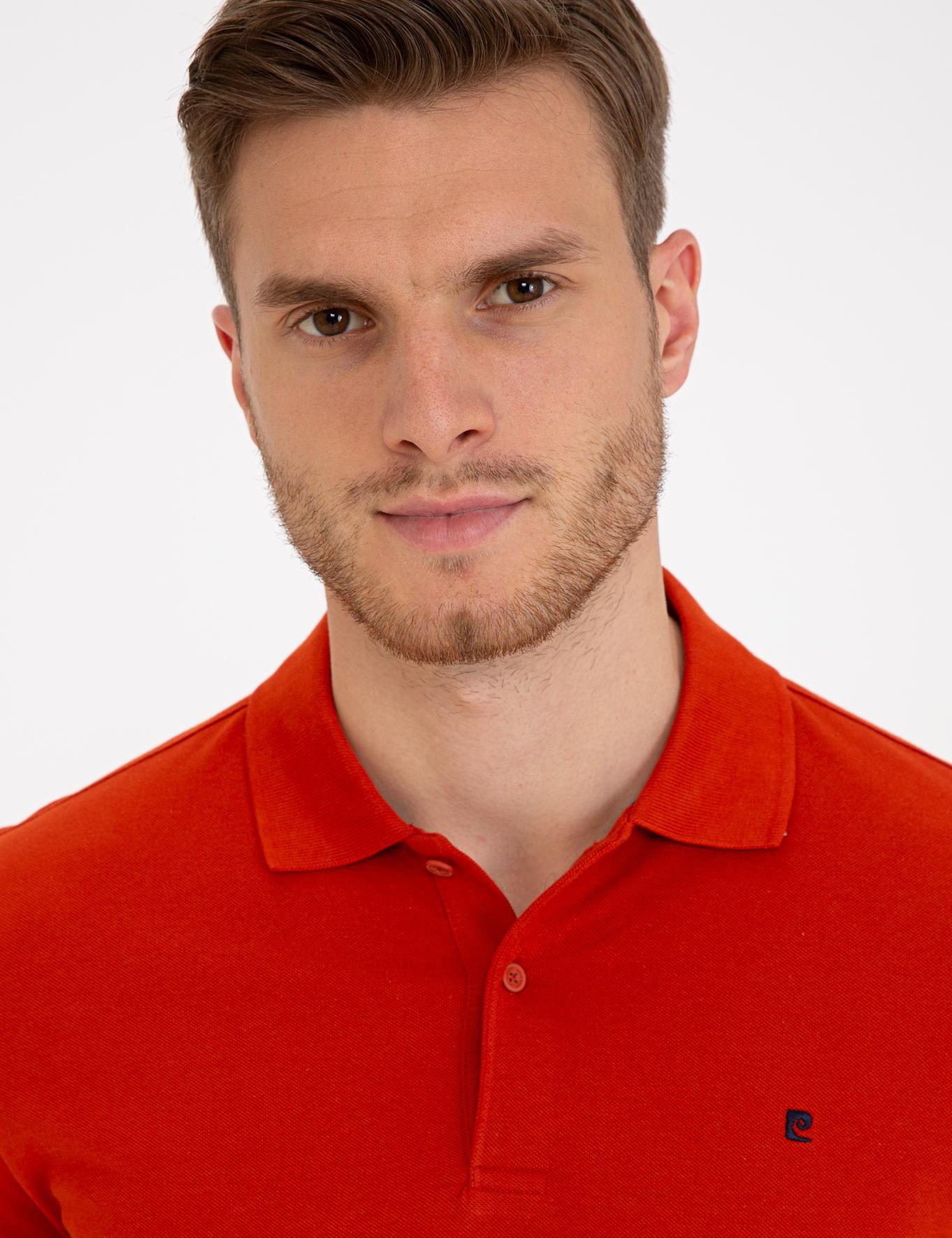 Kiremit Slim Fit Basic Polo Yaka T-Shirt