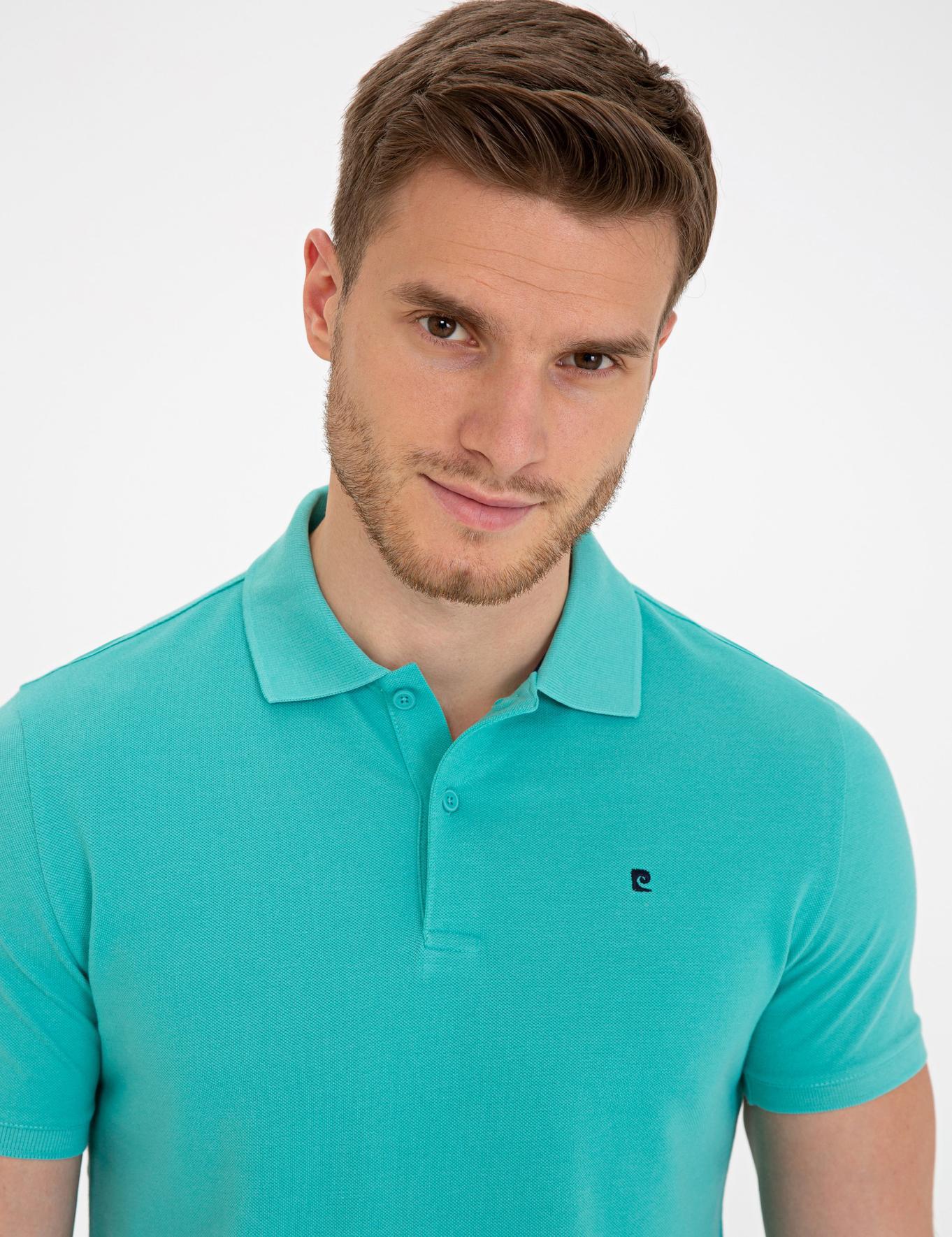 Mint Yeşili Slim Fit Basic Polo Yaka T-Shirt