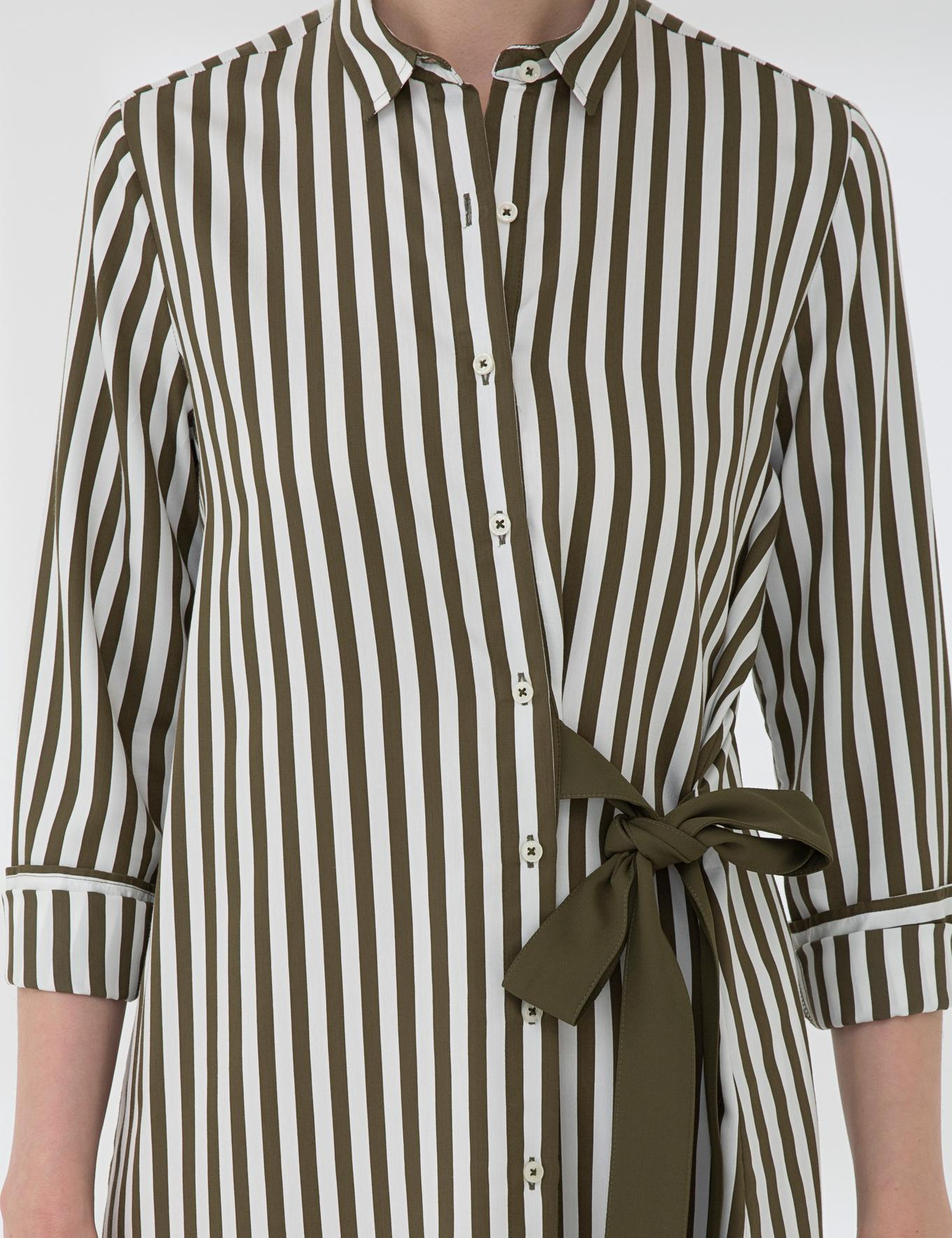 Haki Comfort Fit Gömlek Elbise