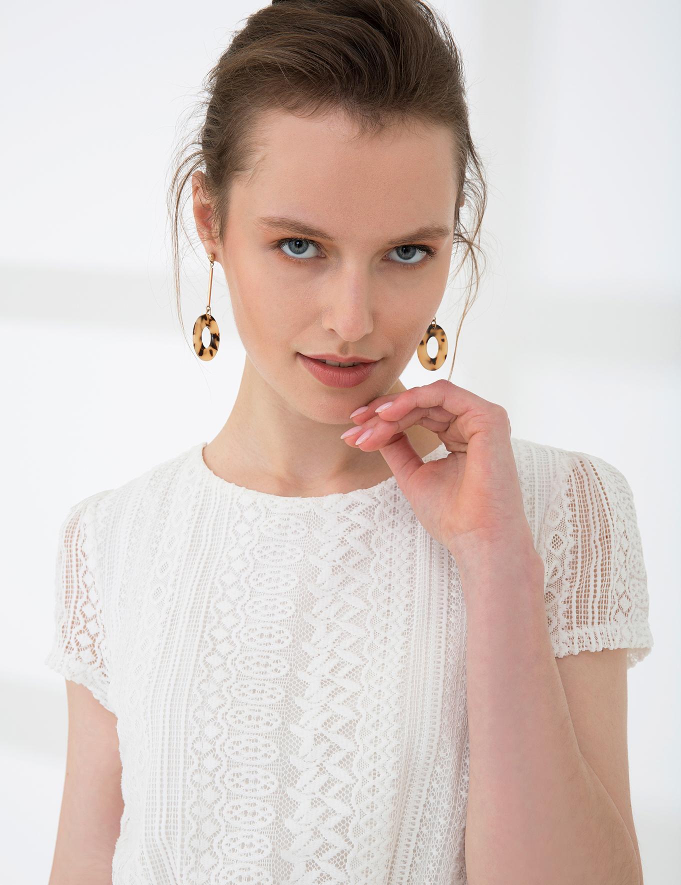 Beyaz Standart Fit Elbise