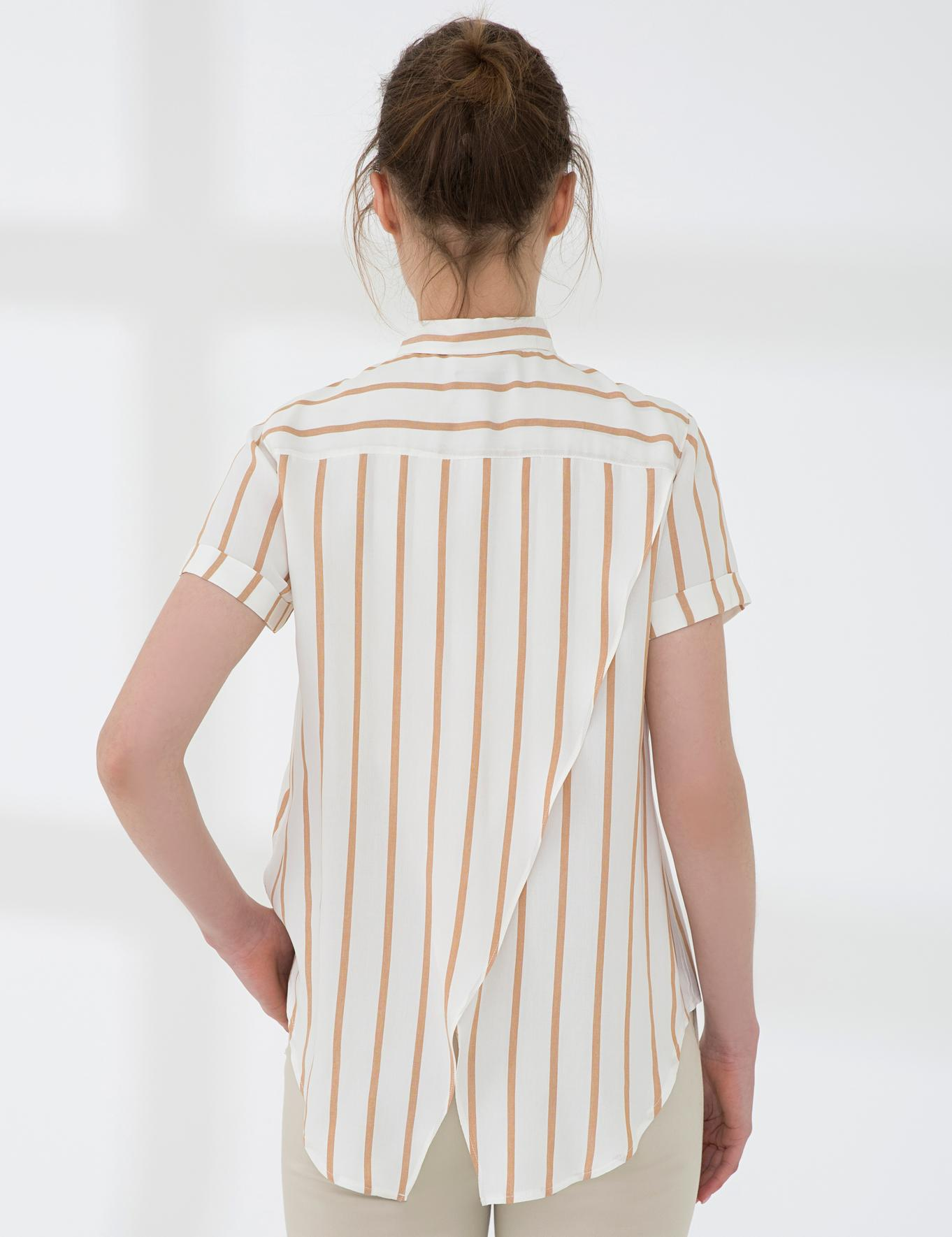 Ekru Comfort Fit Kısakol Gömlek