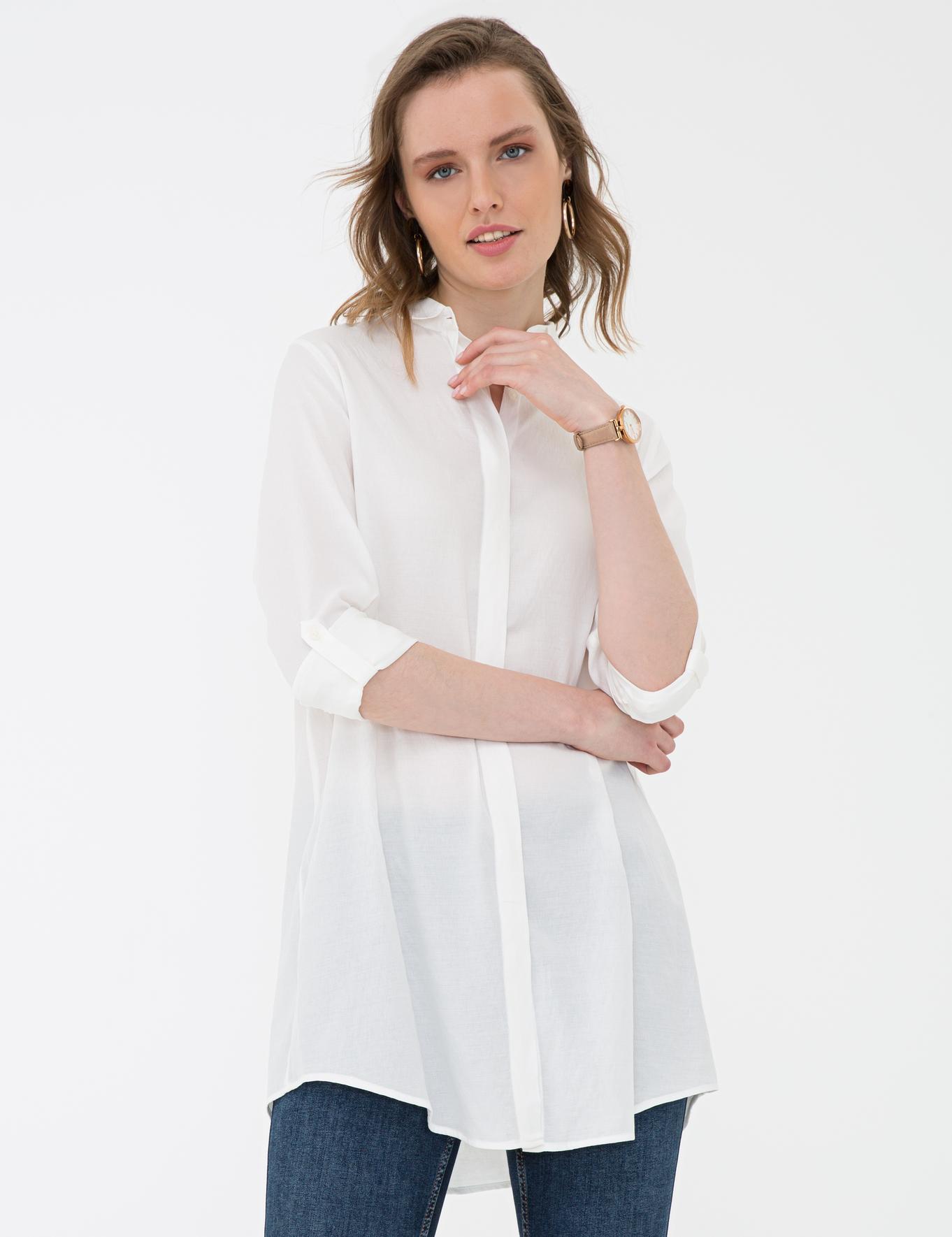 Beyaz Comfort Fit Gömlek