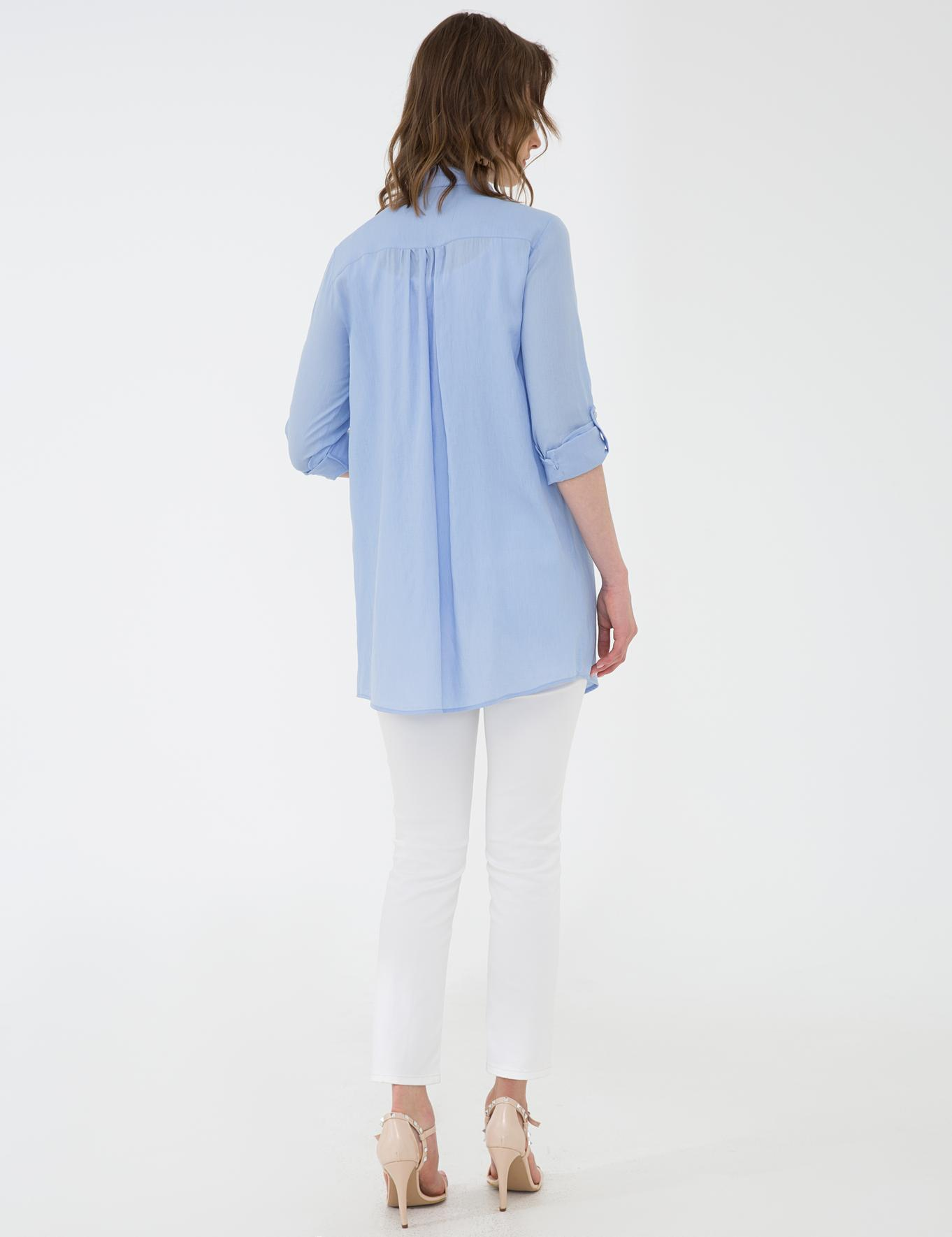 Açık Mavi Comfort Fit Gömlek