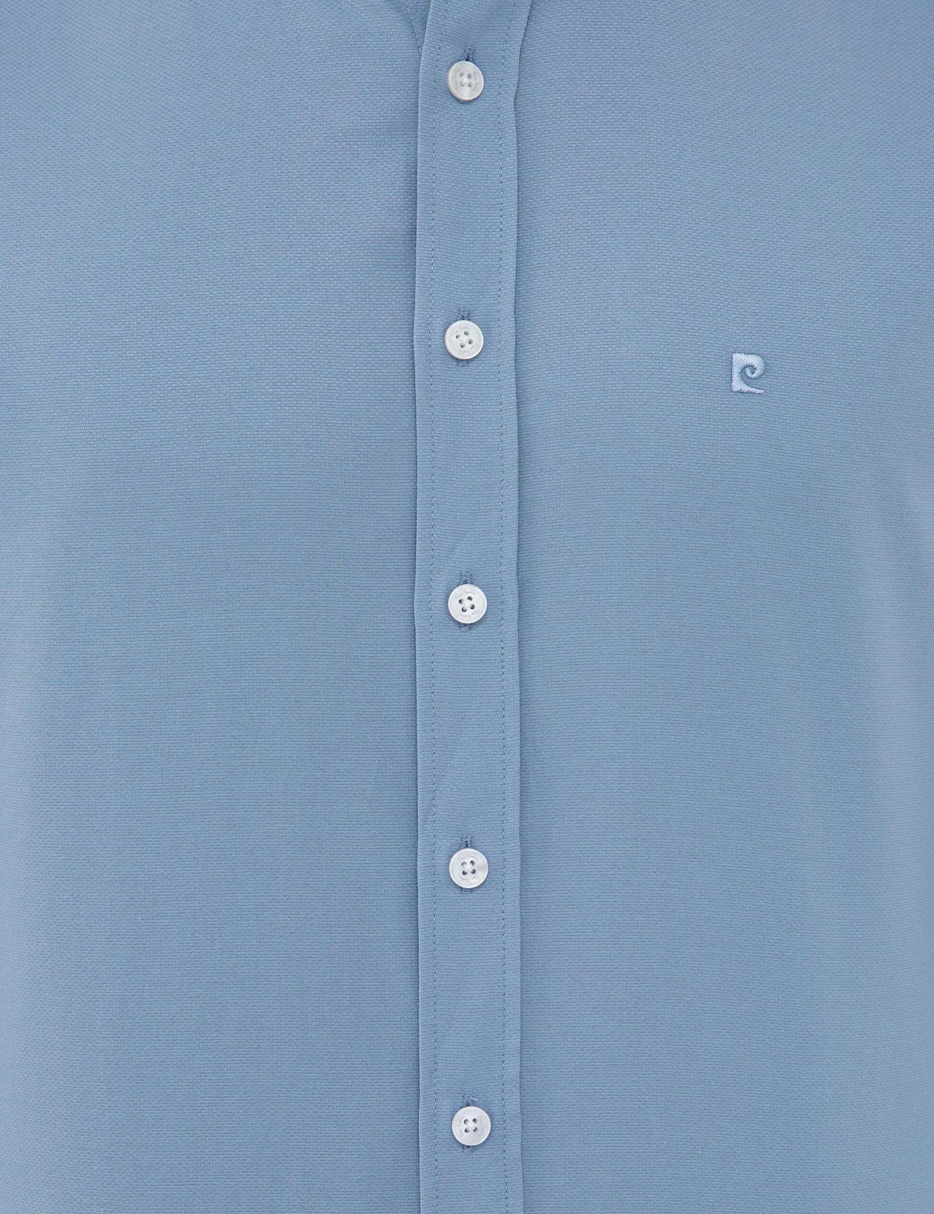 Koyu Mavi Slim Fit Oxford Gömlek