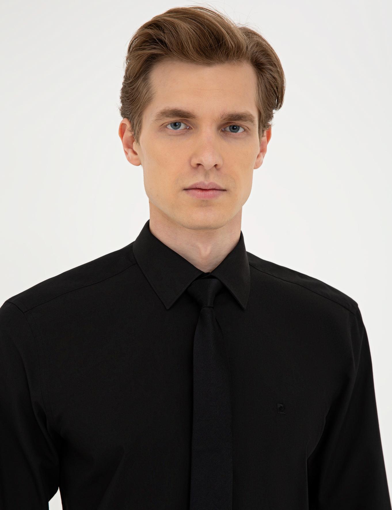 Siyah Regular Fit Basic Gömlek