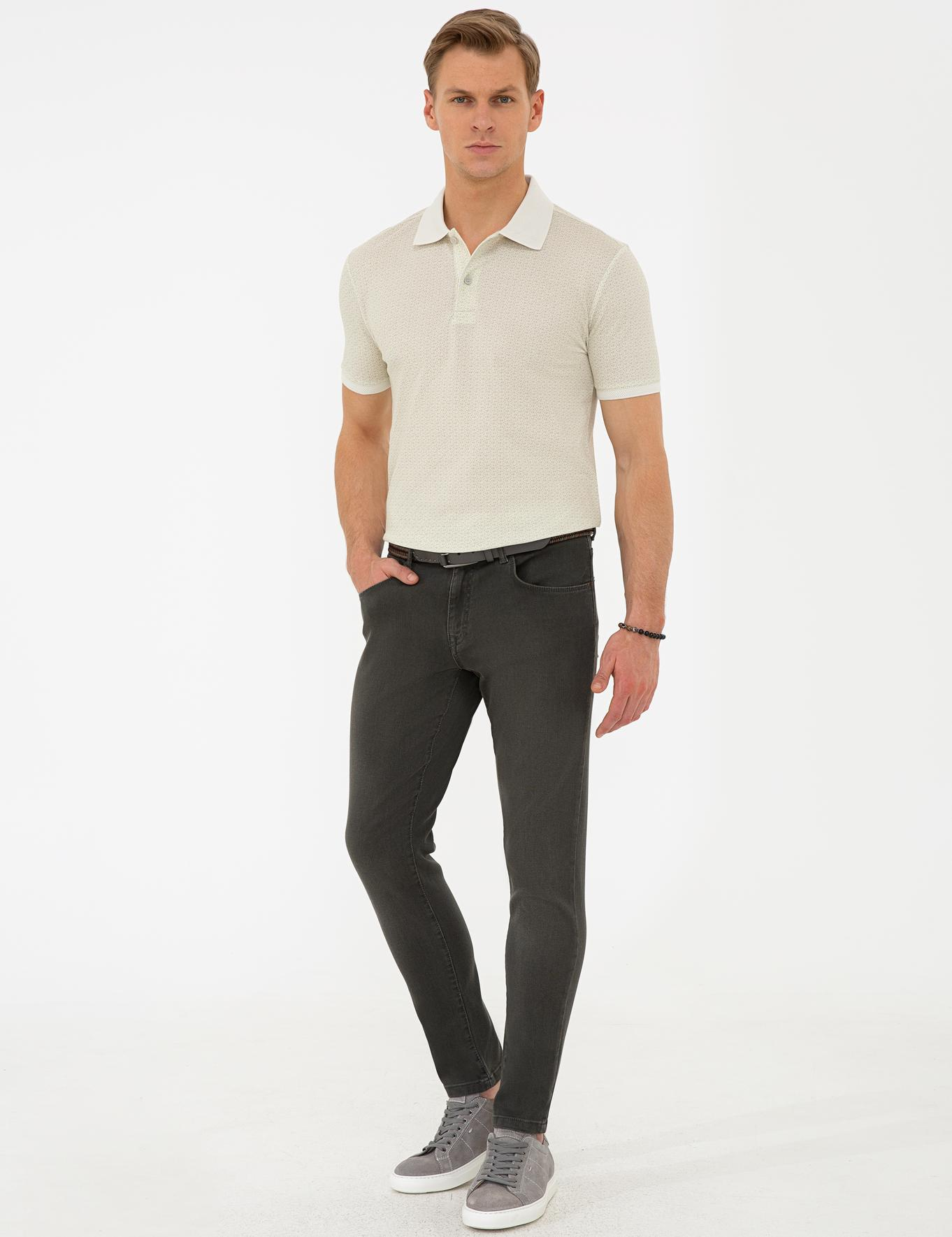 Koyu Yeşil Slim Fit Denim Pantolon