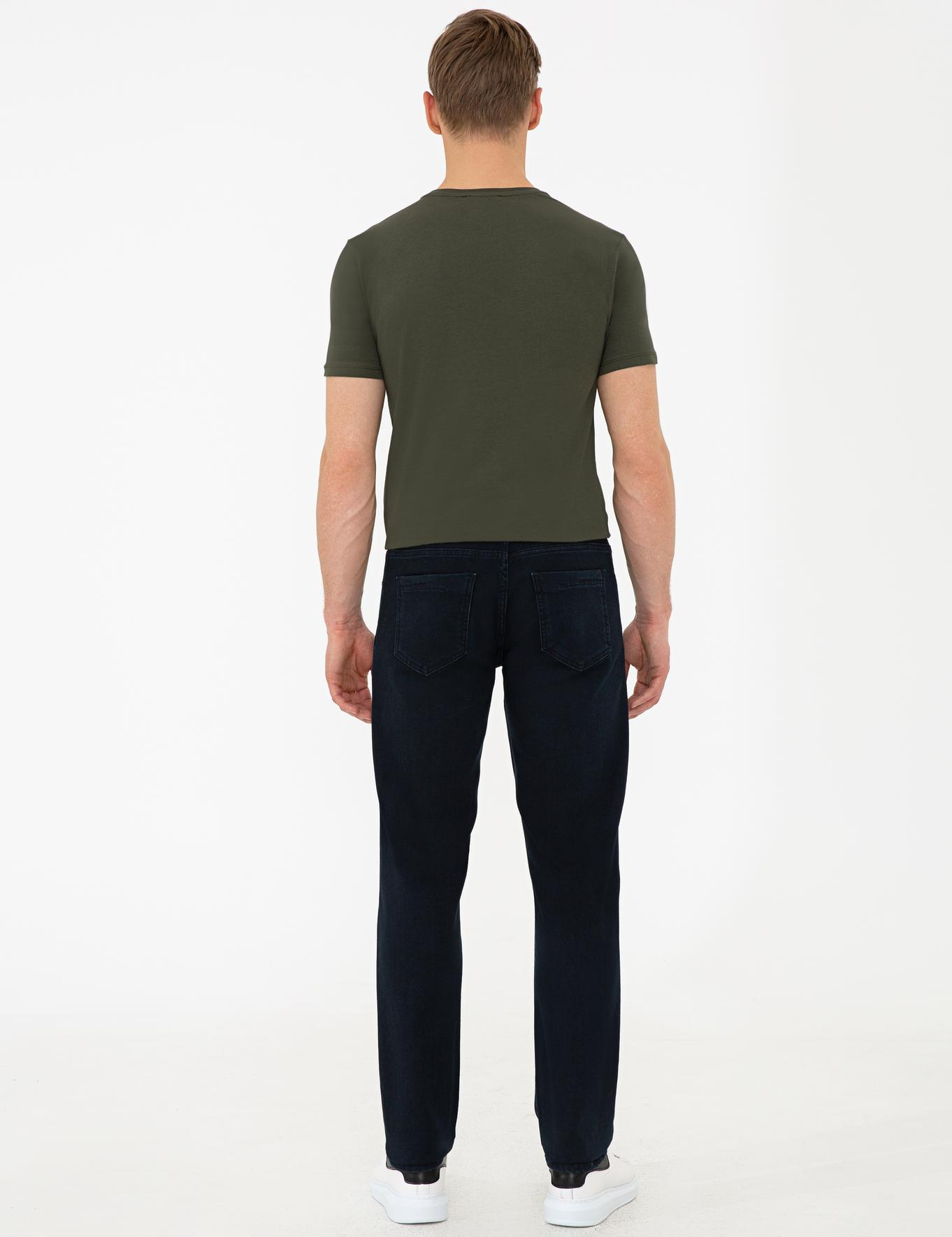 Lacivert Straight Fit Denim Pantolon