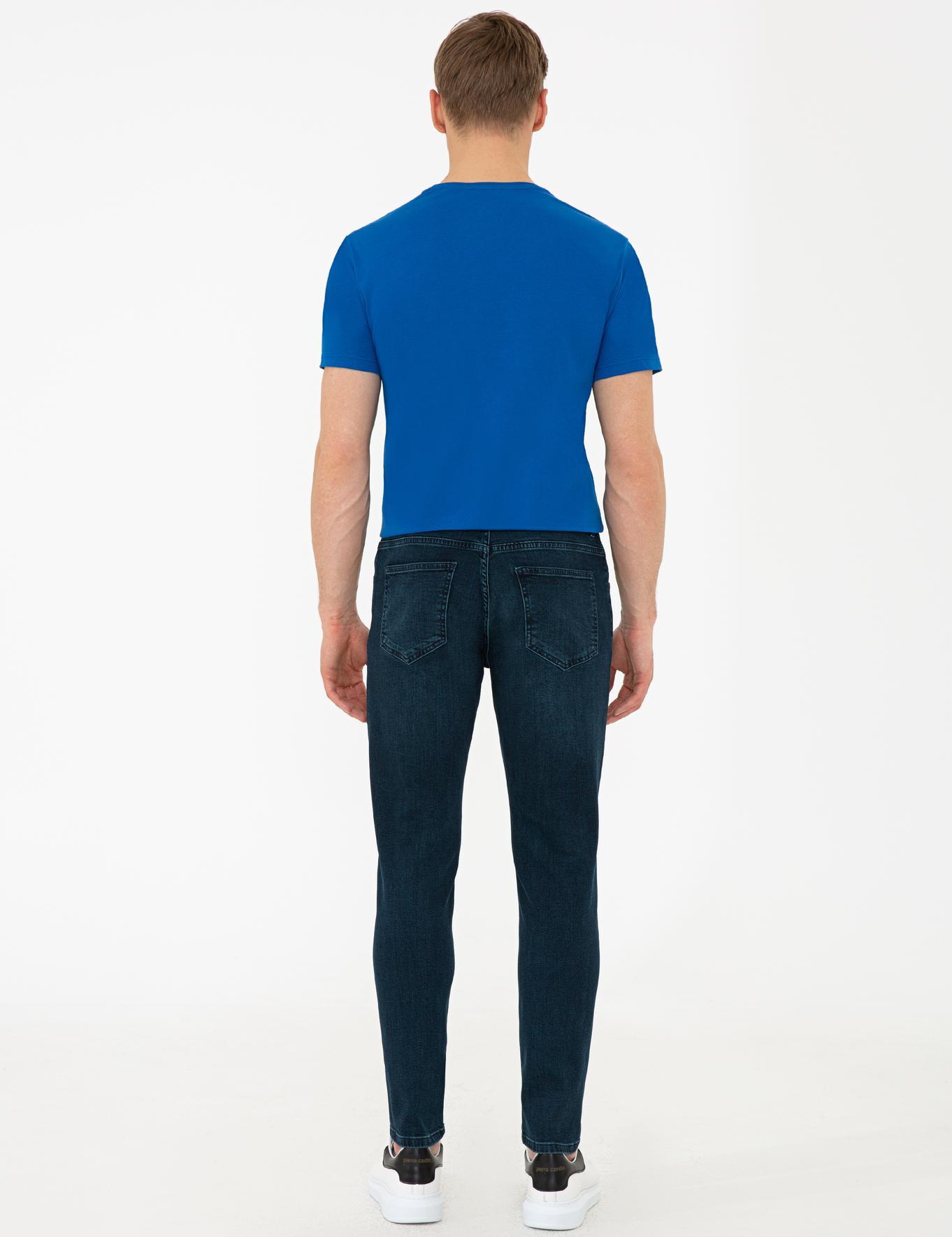Lacivert Slim Fit Denim Pantolon