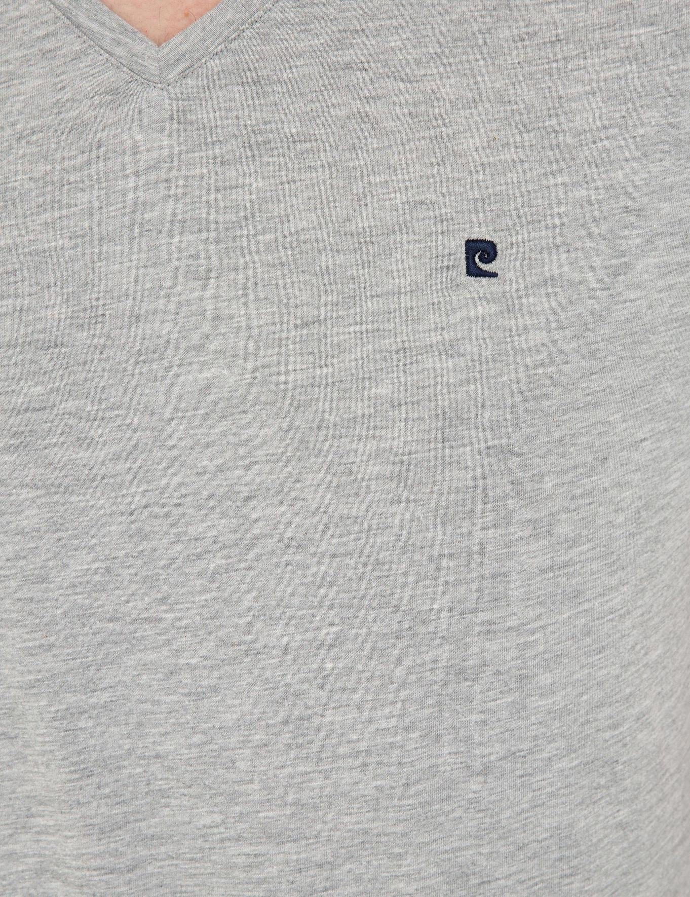 Gri Melanj Slim Fit Basic V Yaka T-Shirt