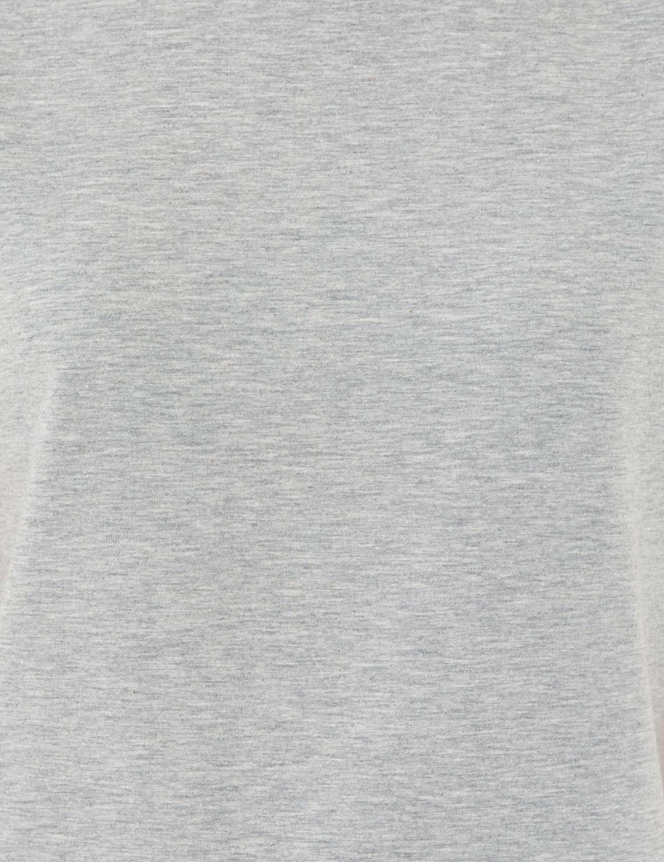 Gri Melanj Crop Top Fit T-Shirt