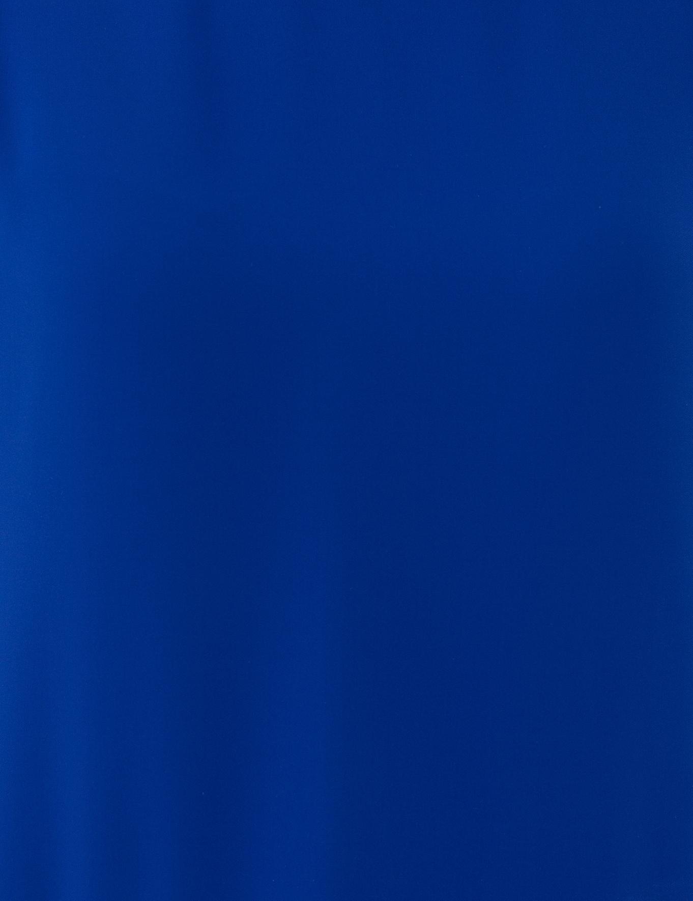 Saks Mavi Standart Fit Bisiklet Yaka Bluz
